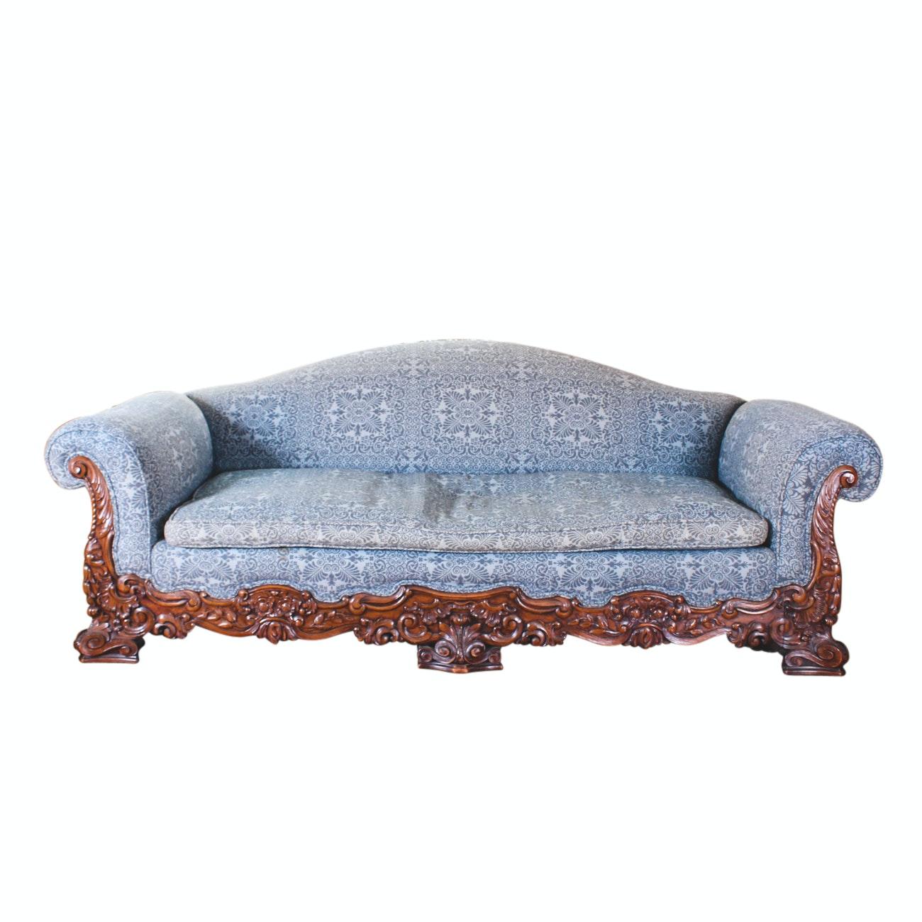 Victorian Renaissance Revival Style Parlor Sofa ...