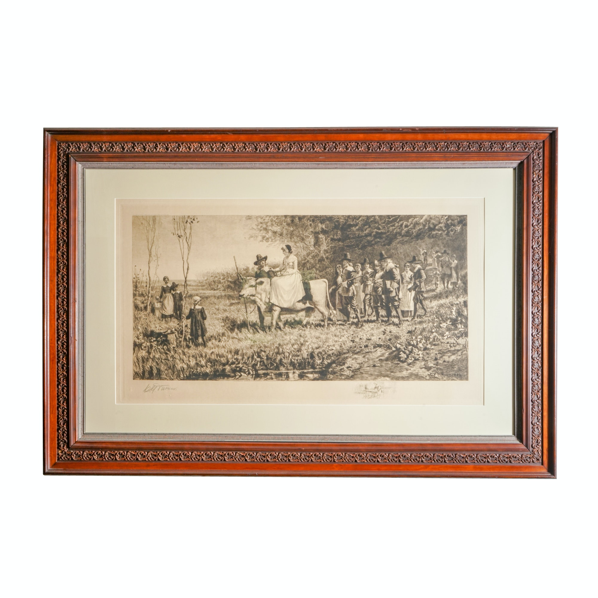 1887 Charles Yardley Turner Engraving