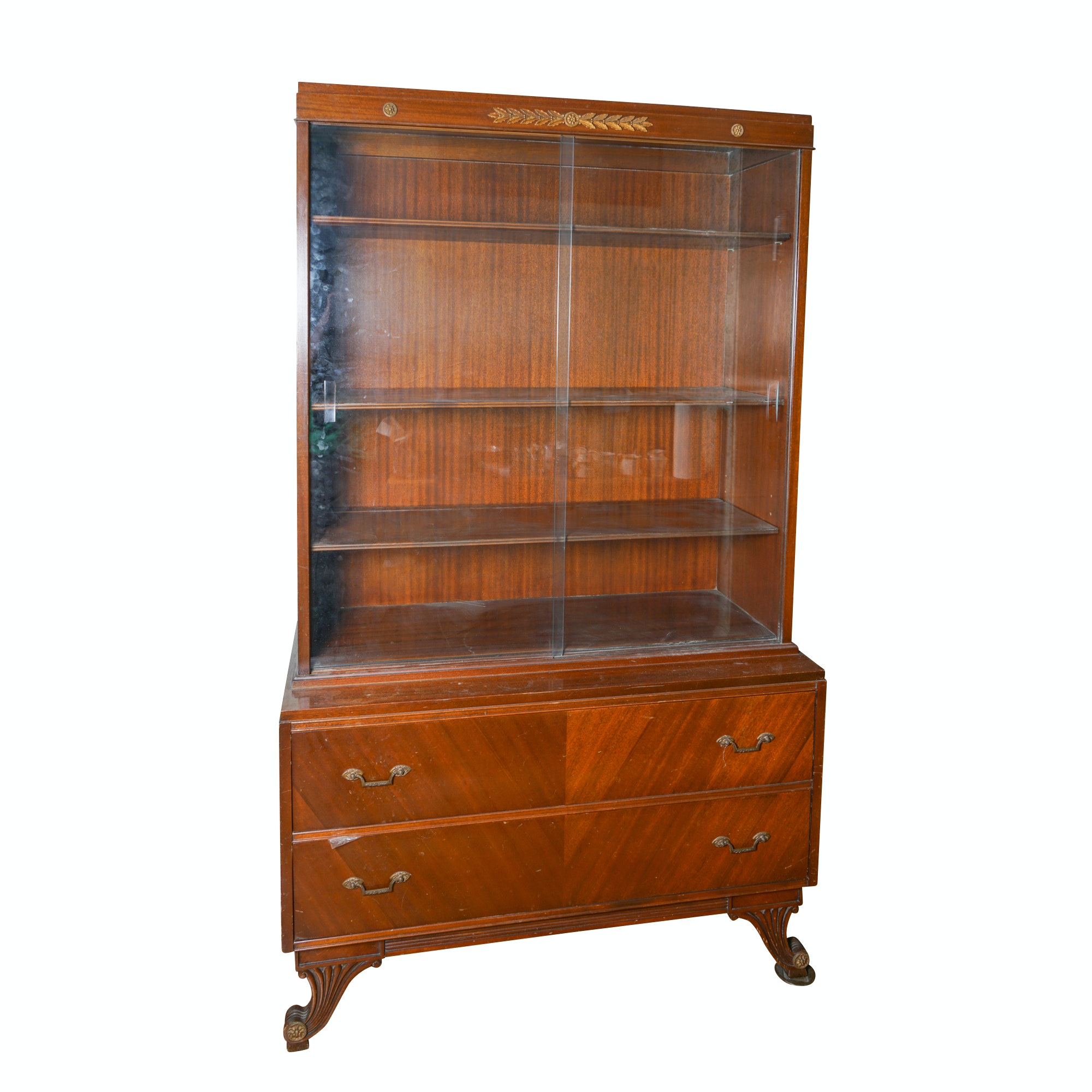 Vintage Regency Style China Cabinet