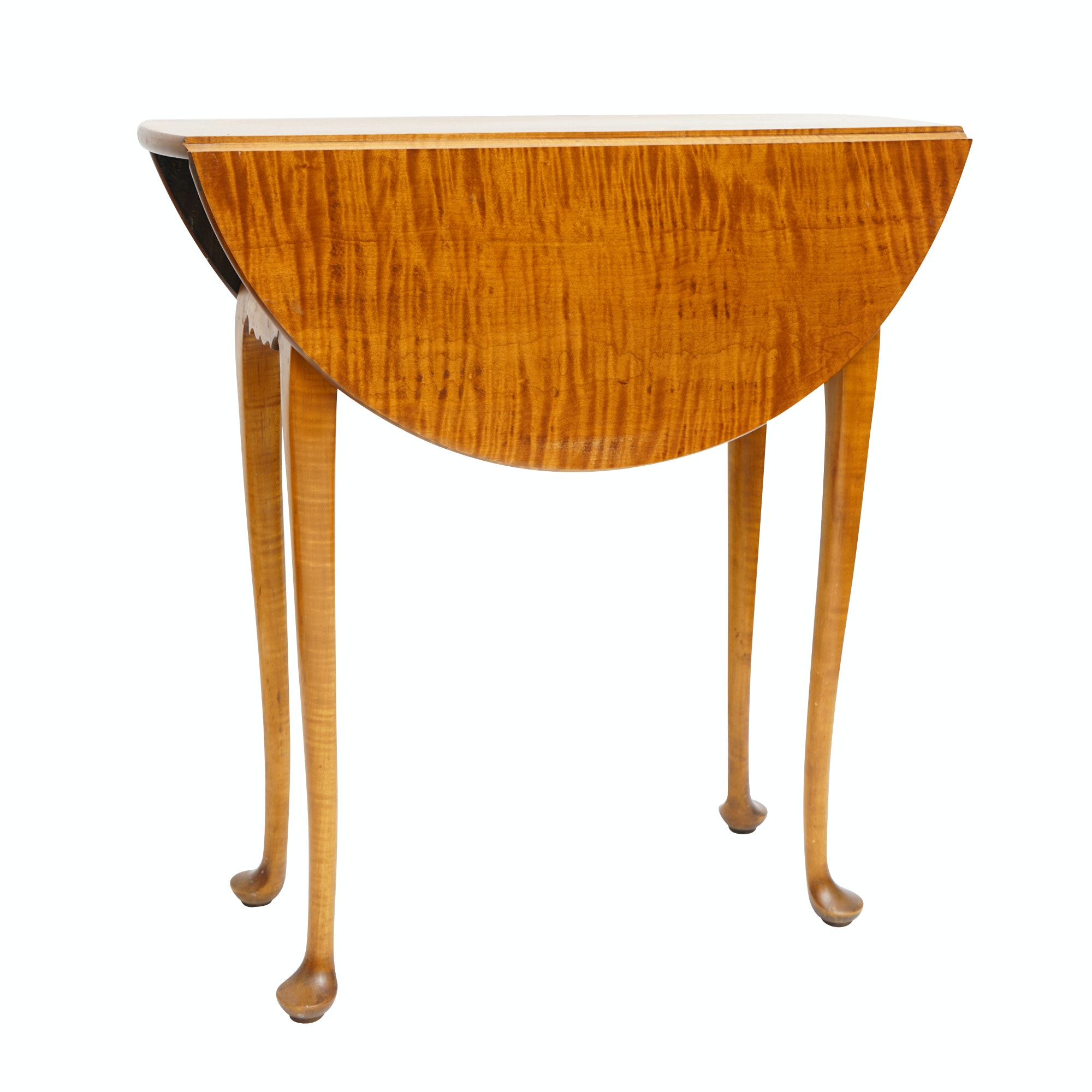 Tiger Maple Drop-leaf Side Table by Eldred Wheeler