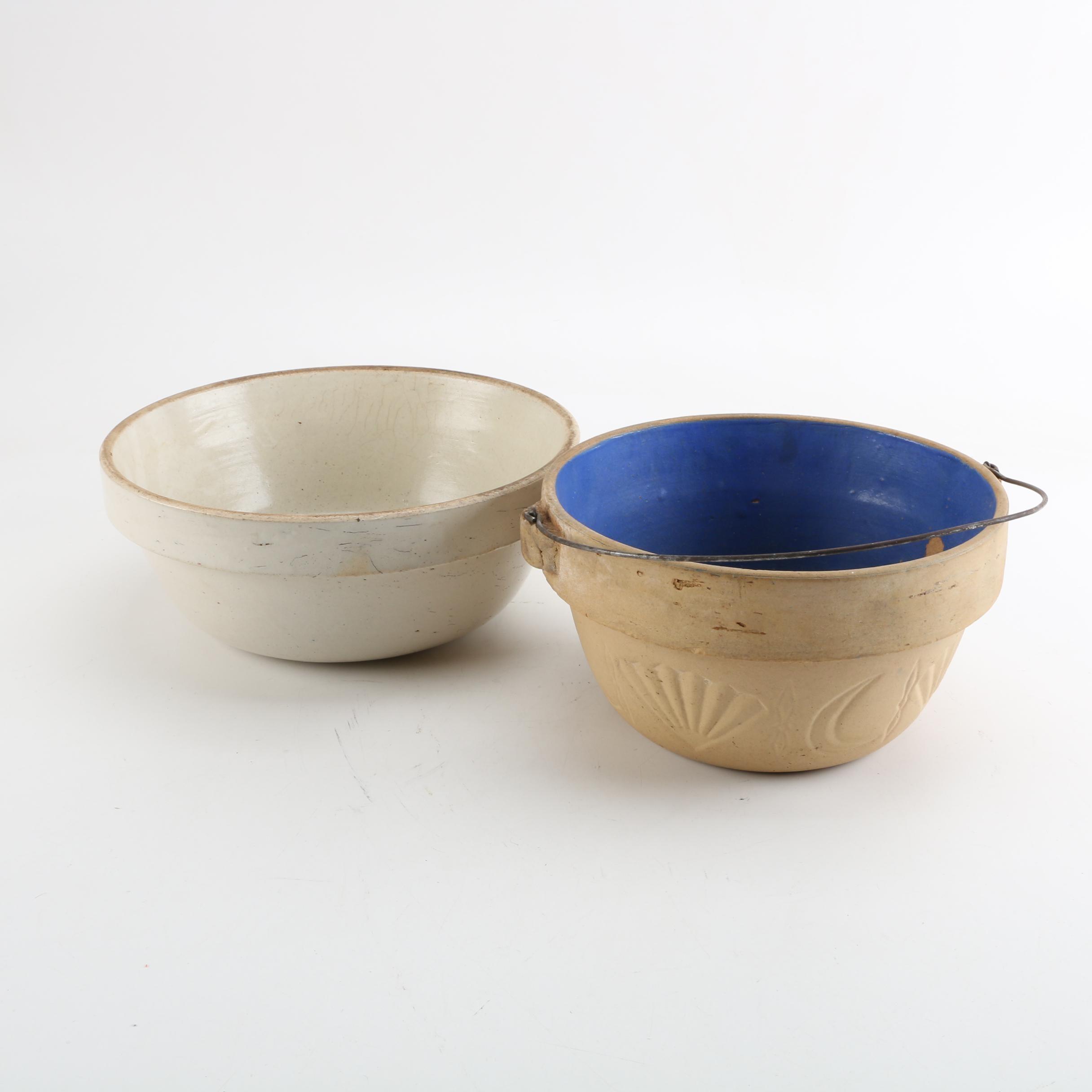 Vintage Stoneware and Ironstone Plant Pots