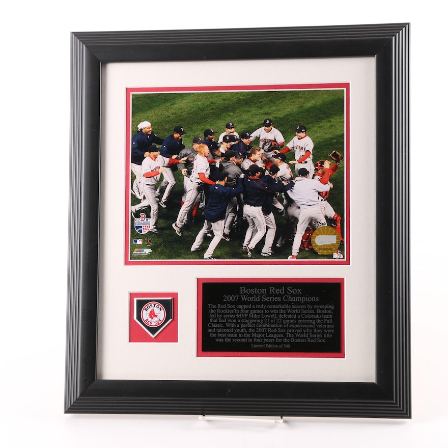 Boston Red Sox 2007 Limited Edition World Series Framed Photo ...