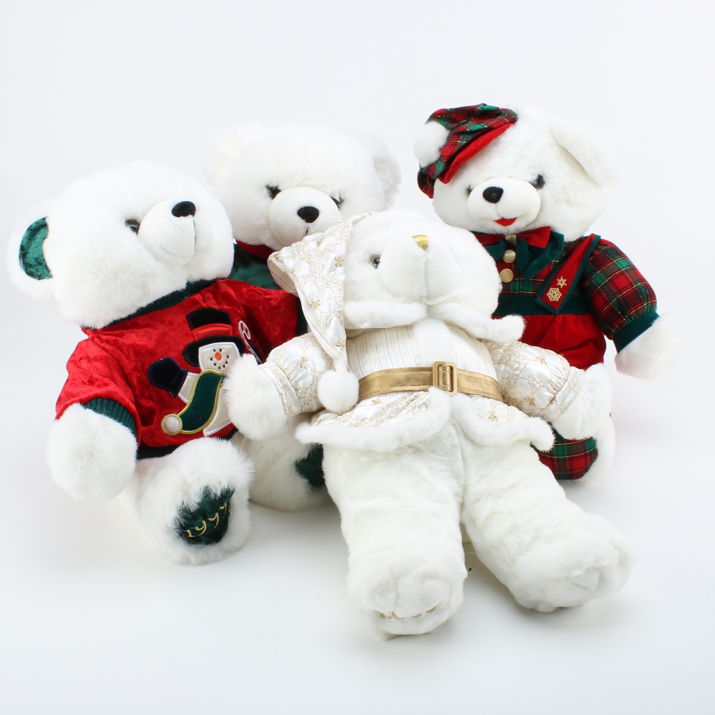 Vintage DanDee Christmas Teddy Bears