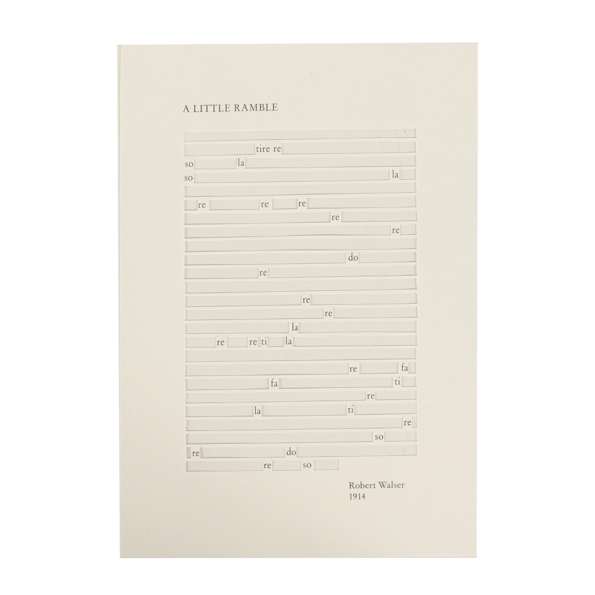 "Jane Benson Hand-Cut Inkjet Print ""A Little Ramble"""
