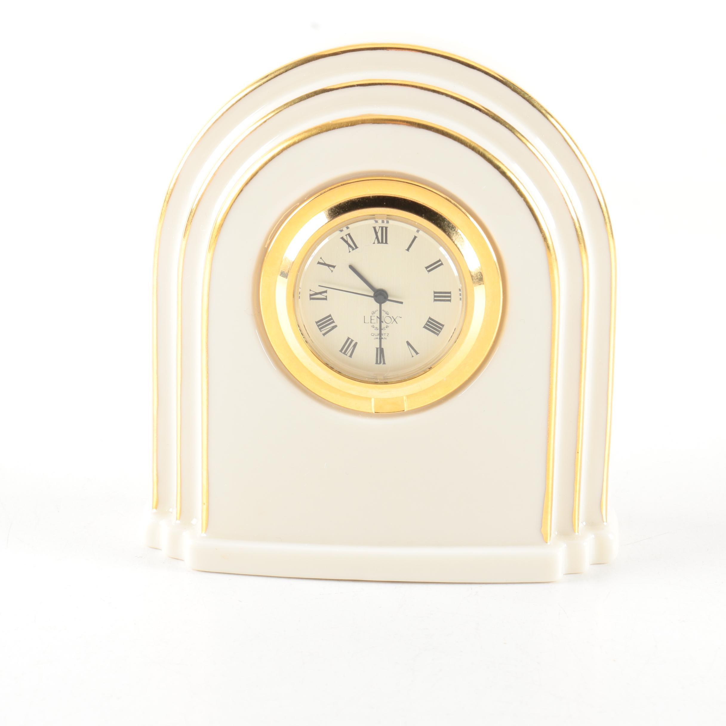 Lenox Porcelain Shelf Clock