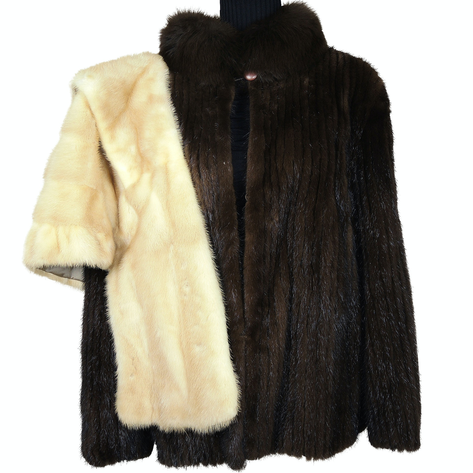 Natural Mink Fur Coat and Shillito's Fur Salon Mink Fur Stole