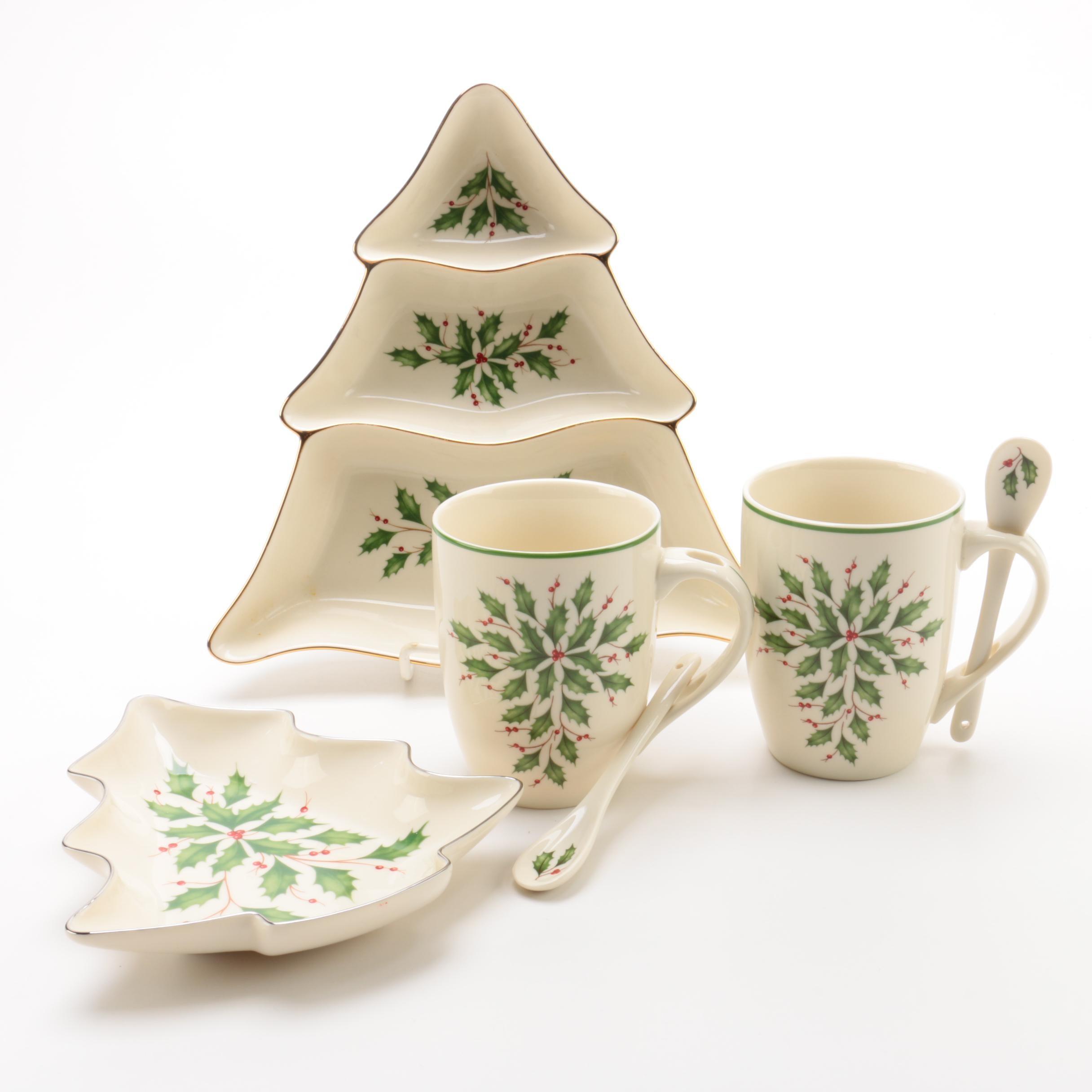 "Lenox ""Holiday"" Porcelain Serveware"