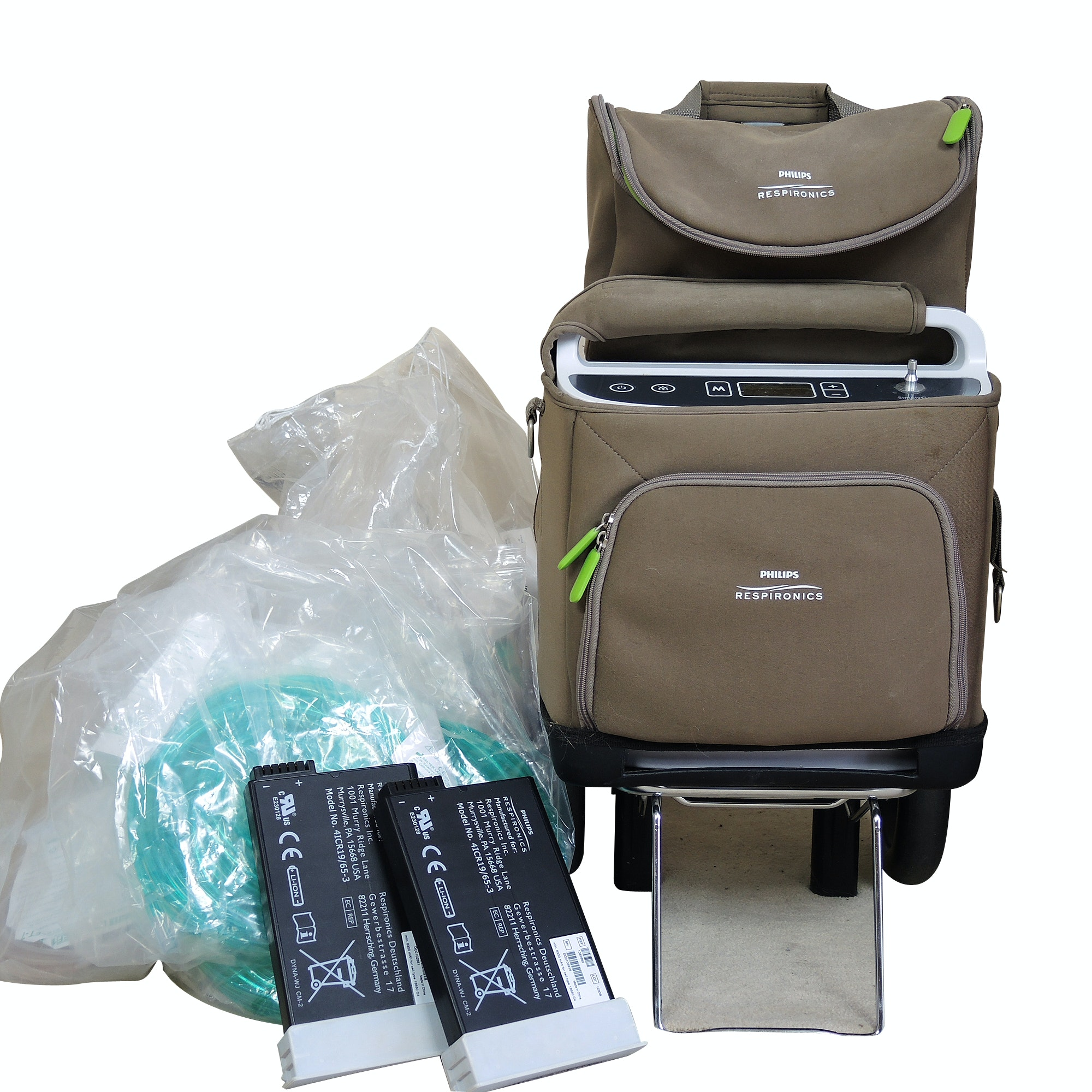 Philips Respironics Portable Oxygen Unit and Mobile Cart