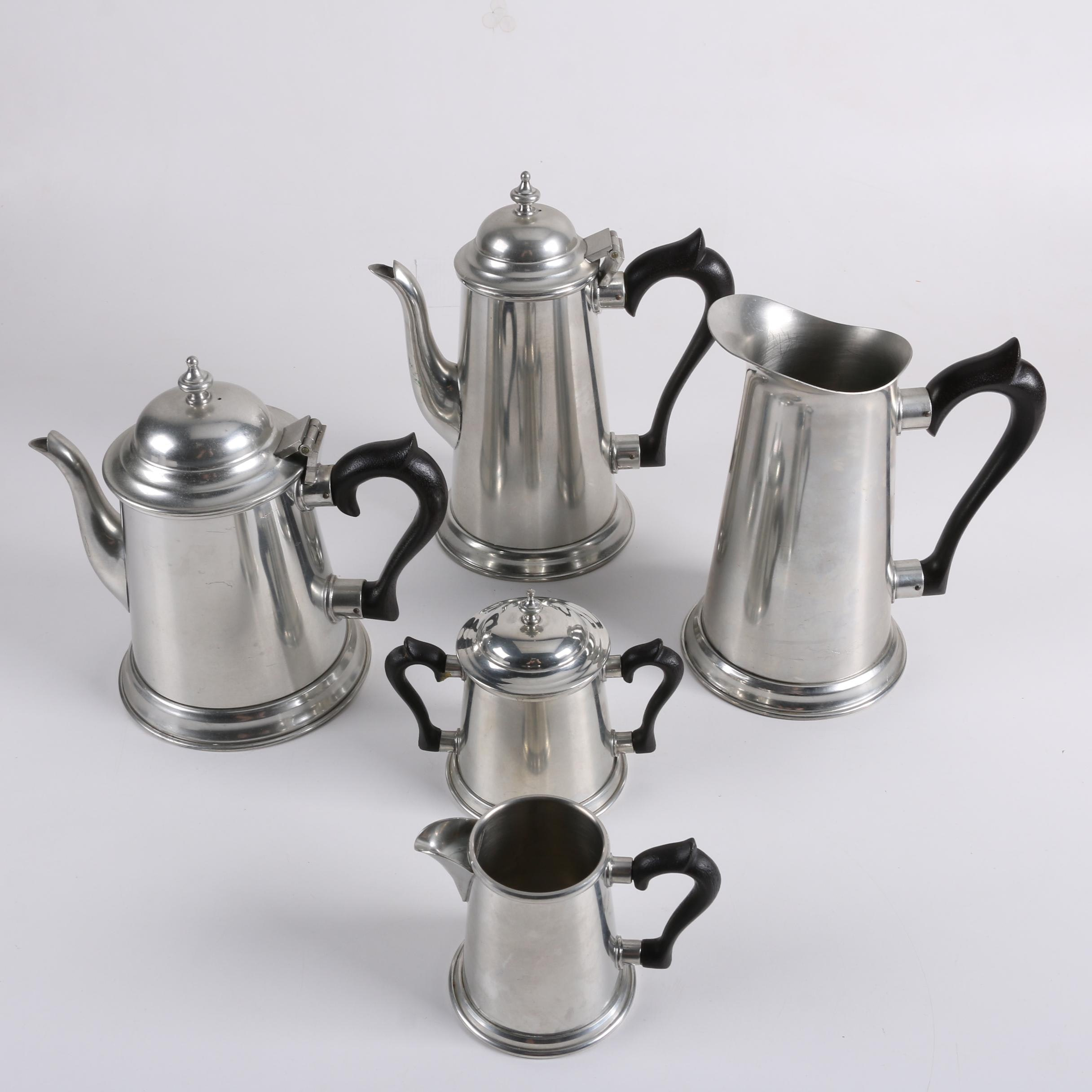 """The Stieff Co. """"Colonial"""" Pewter Coffee and Tea Service"""