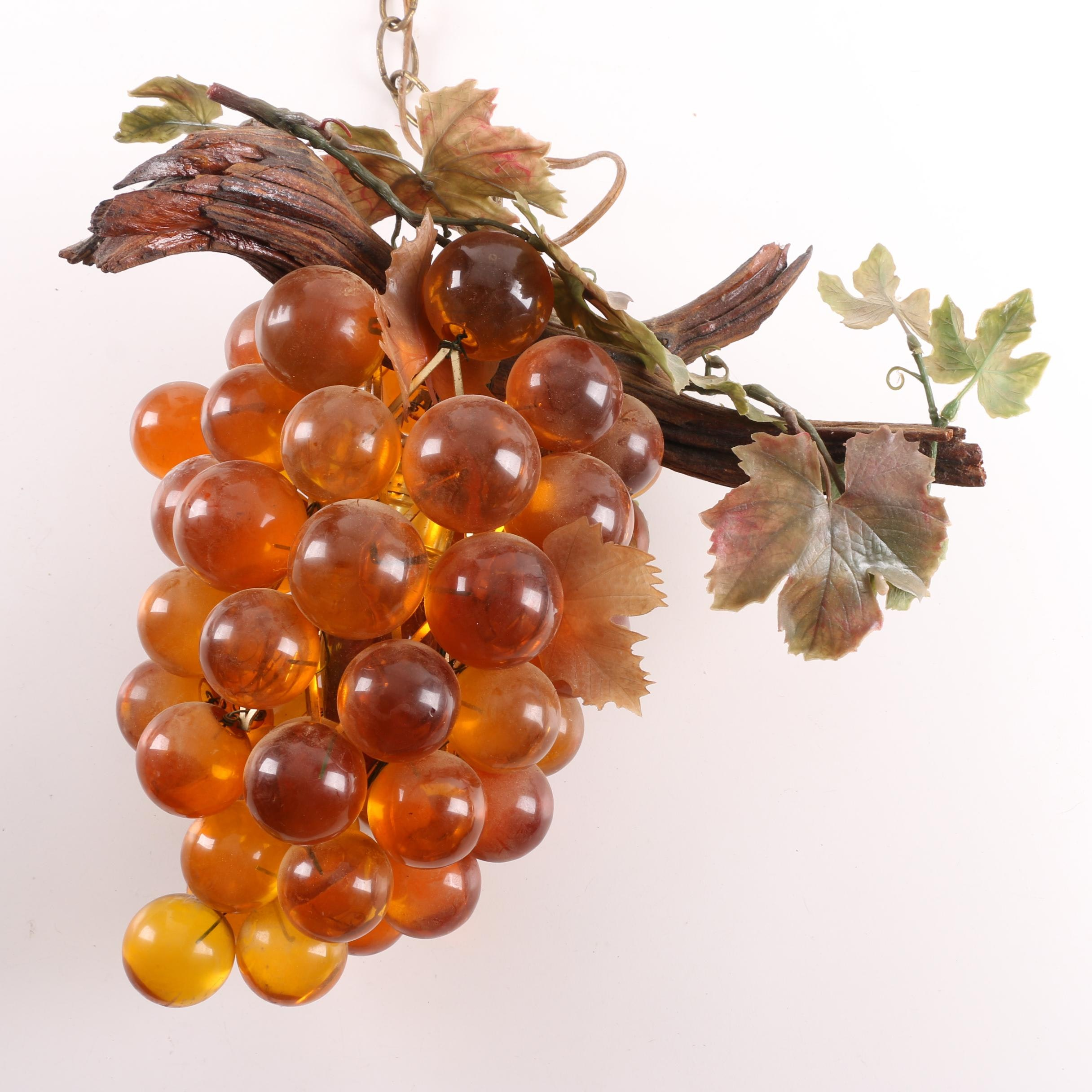 Vintage Bunch of Grapes Pendant Light
