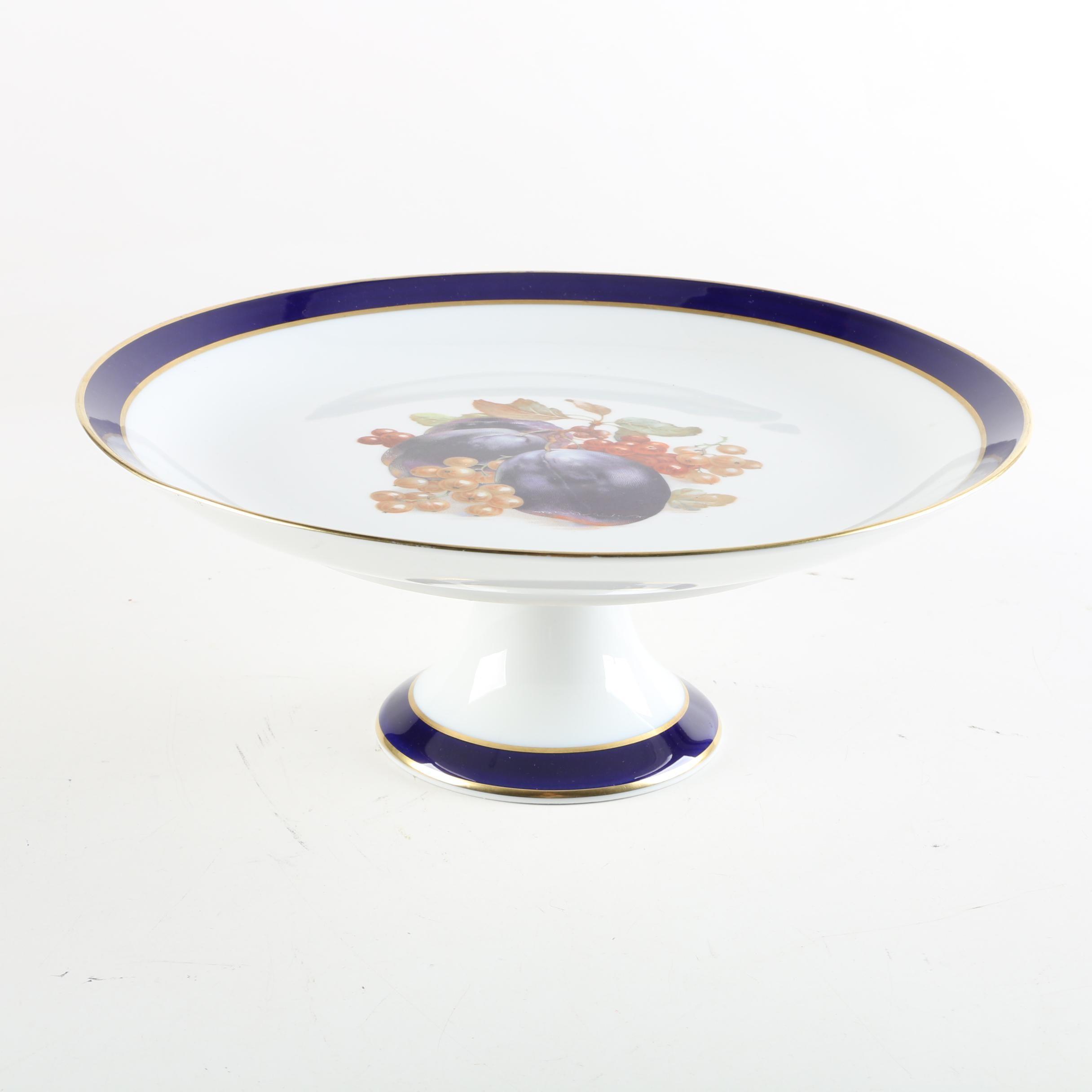 "Schumann ""Bountiful"" Bavarian Porcelain Cake Stand"