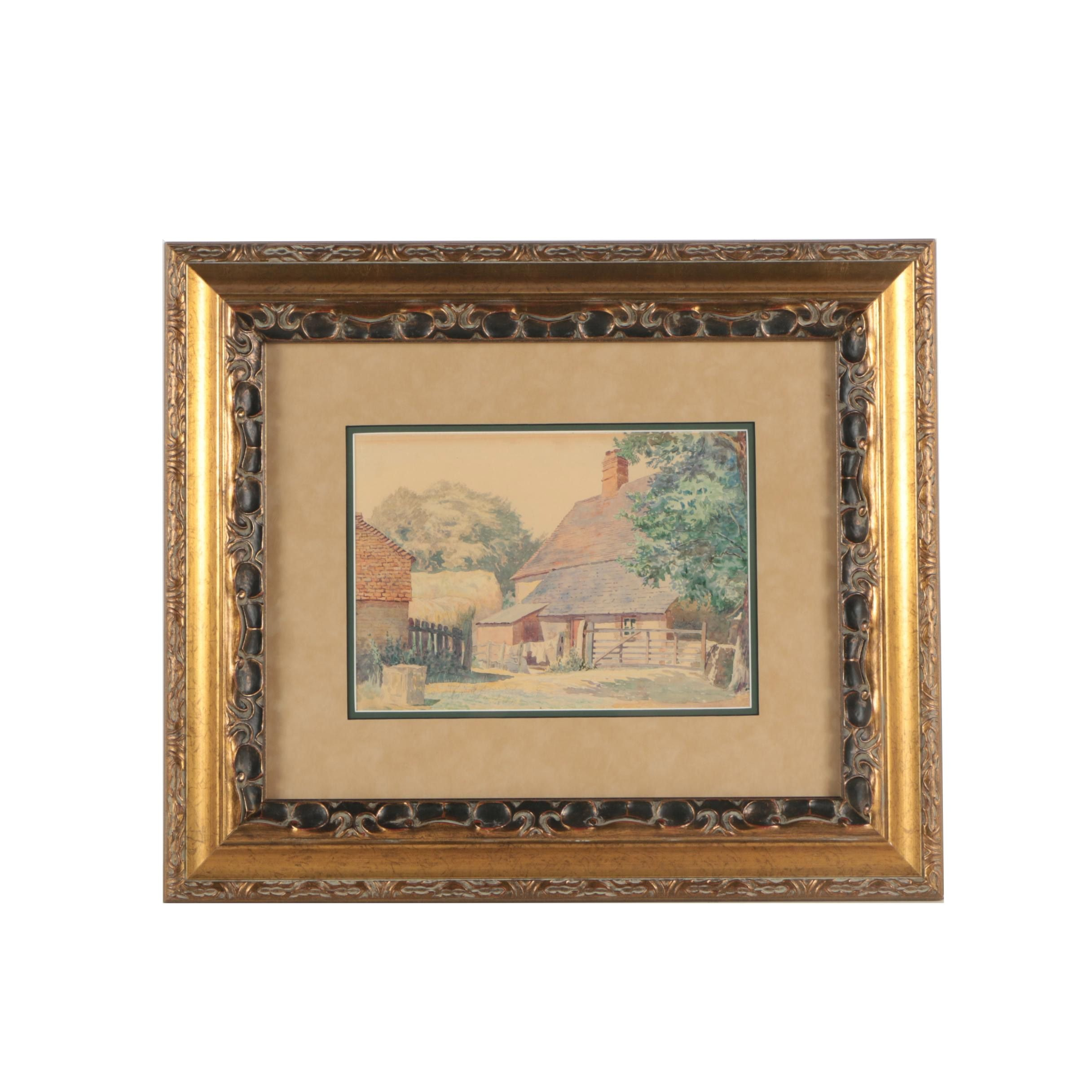 20th-Century Watercolor Painting