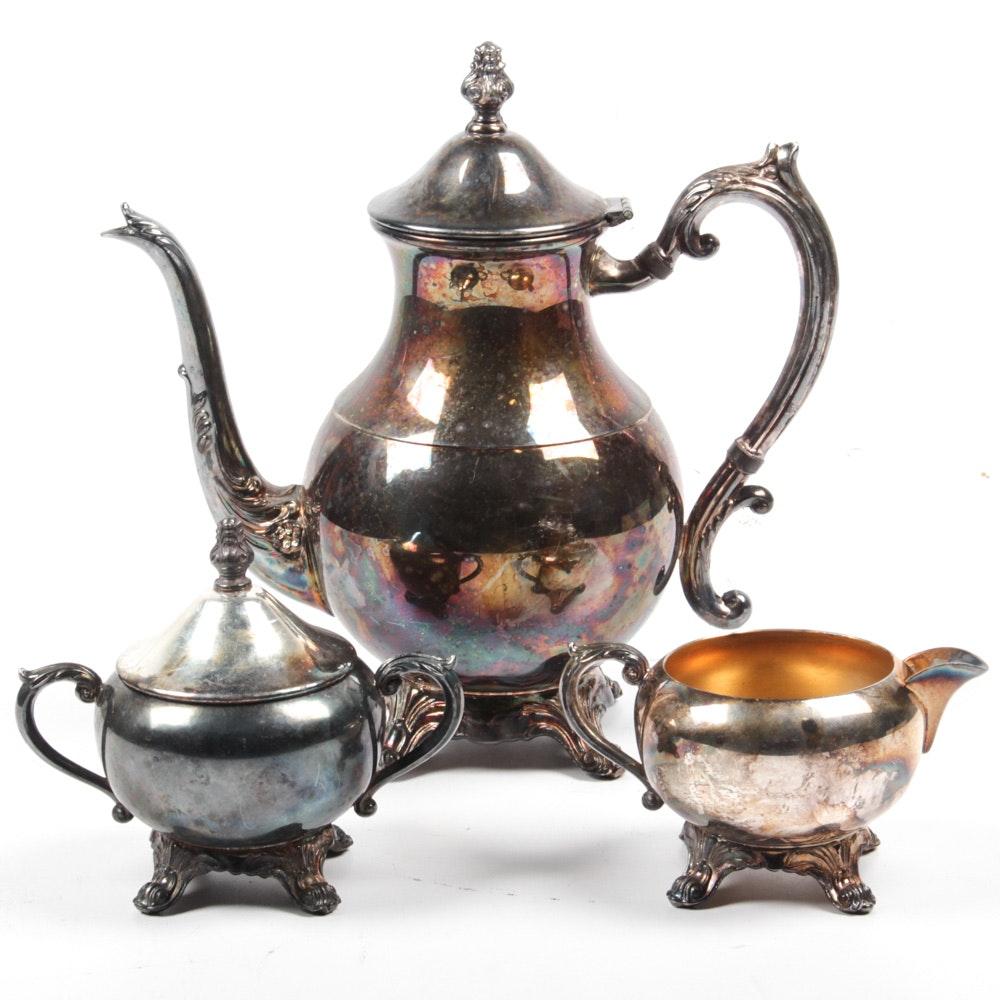 F.B. Rogers Silver Plate Tea Set ...  sc 1 st  EBTH.com & F.B. Rogers Silver Plate Tea Set : EBTH