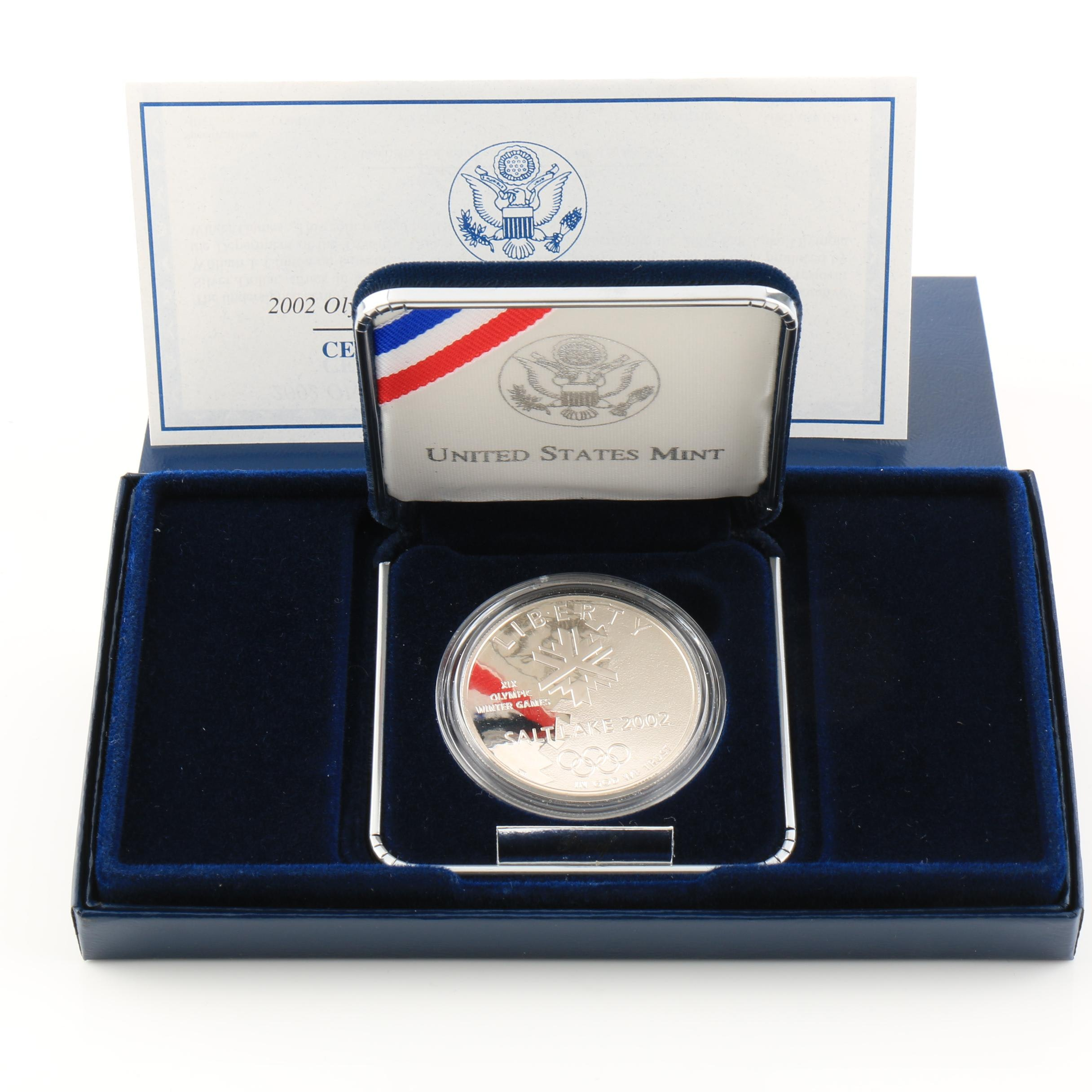 2002 Salt Lake Olympic Winter Games Commemorative Proof Silver Dollar