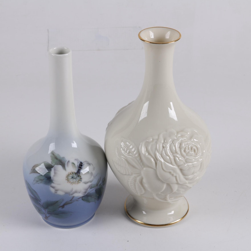 Royal Copenhagen And Lenox Vases Ebth