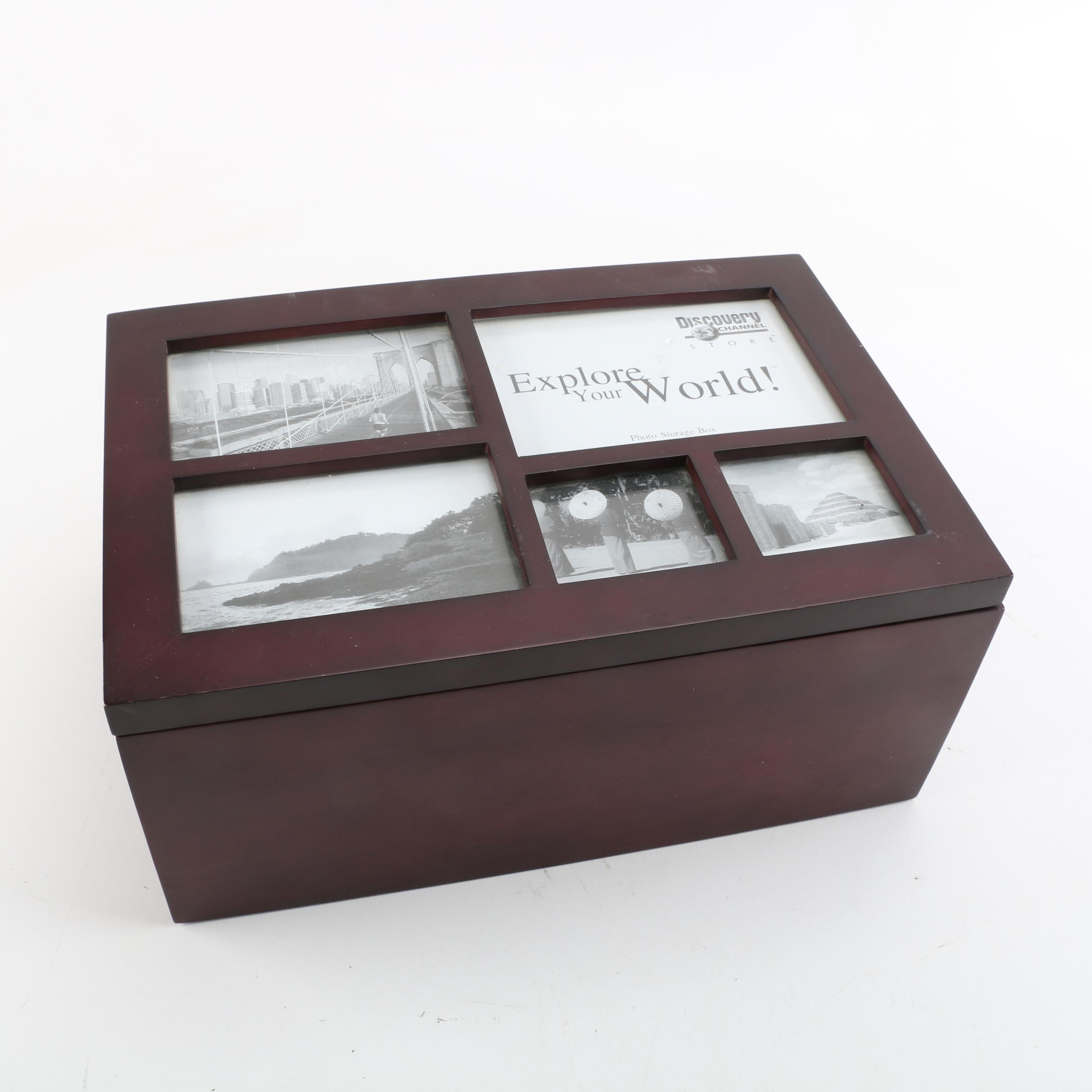 Discovery Channel Store Photo Storage Box with Frame Lid