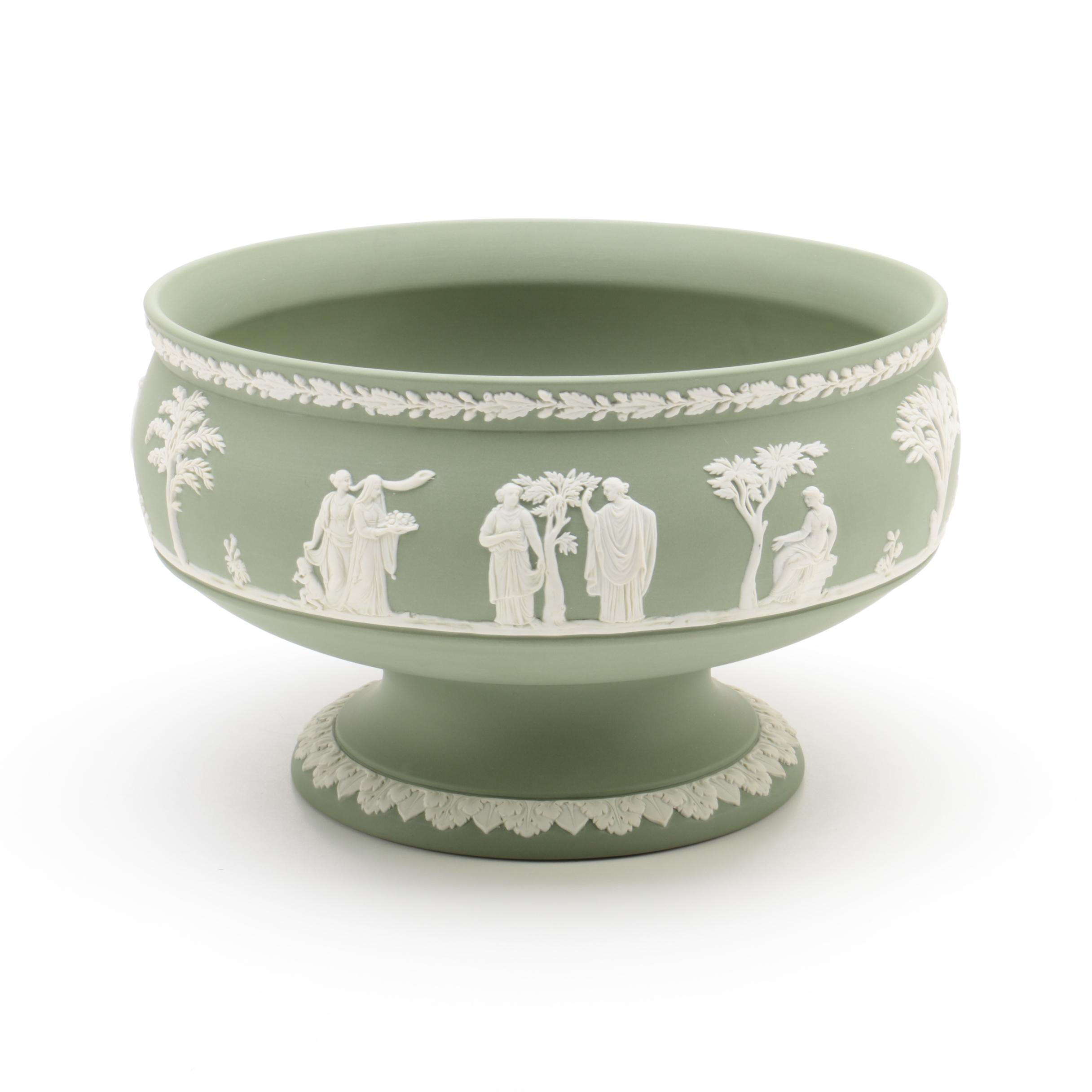 "Wedgwood Jasperware Cream on Celadon ""Imperial"" Bowl"