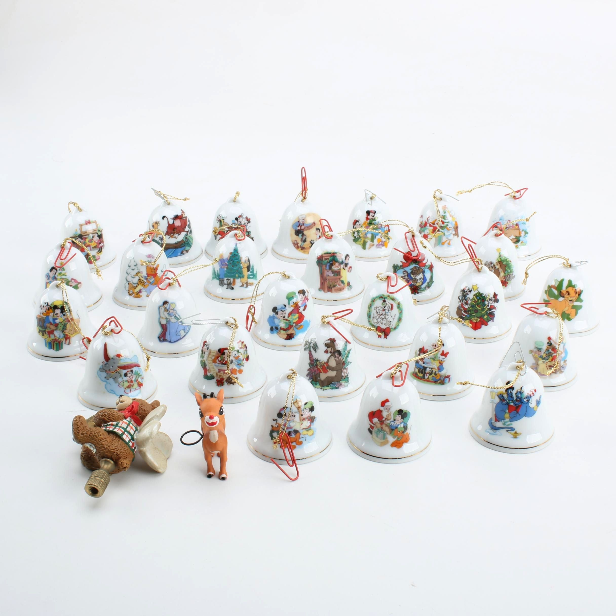 """""""Grolier Collectibles"""" Disney Porcelain Bells and Ornaments"""