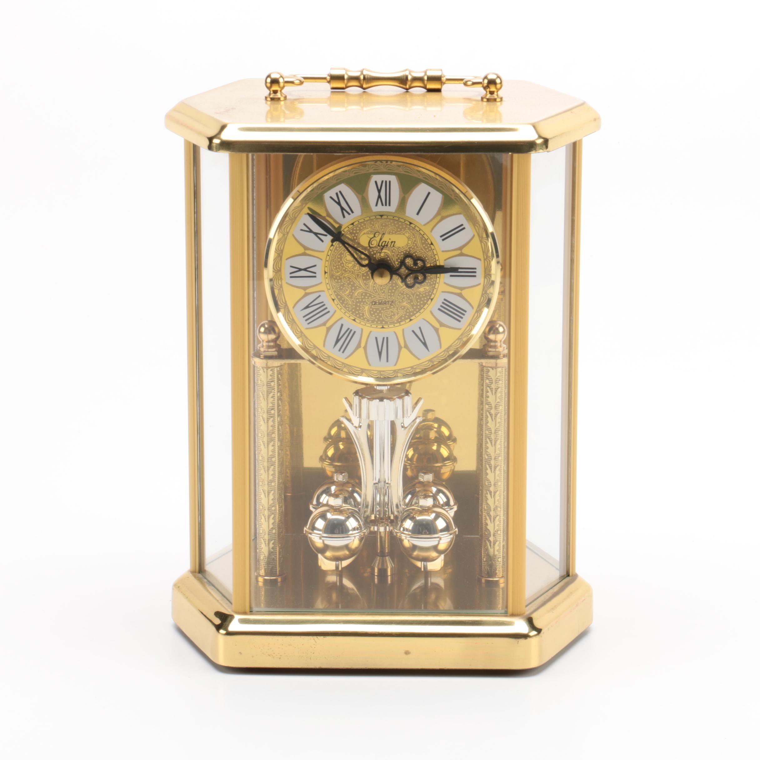 Elgin Quartz Carriage Style Anniversary Clock