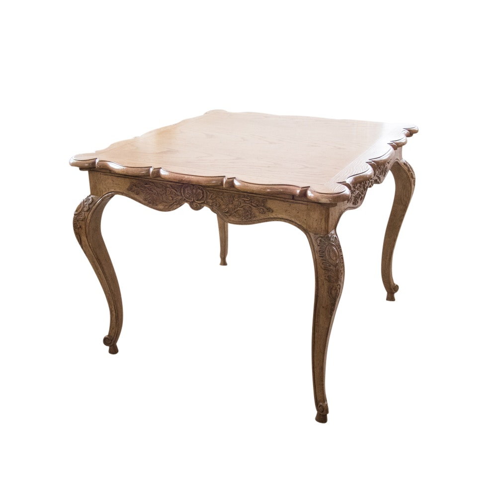 Vintage Louis XV Style Wood Game Table
