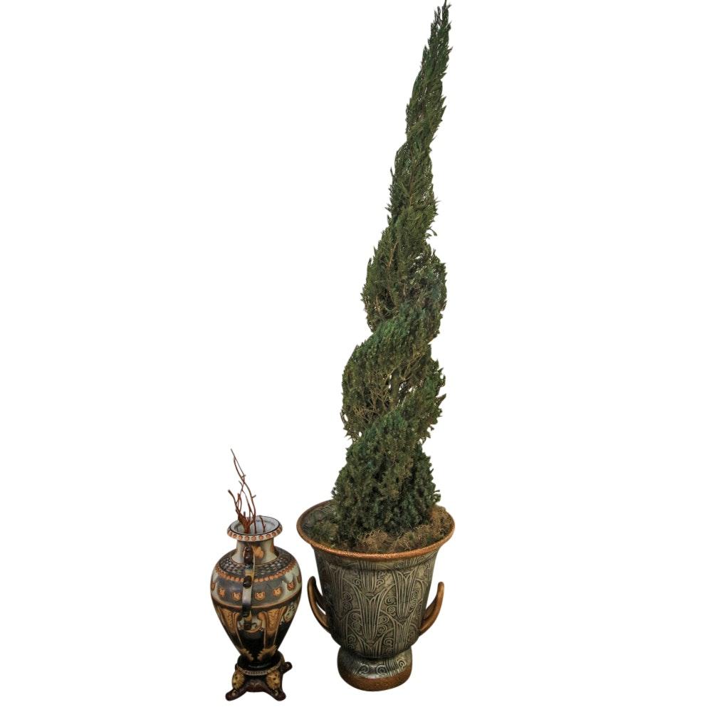 Ornate Ceramic Planters