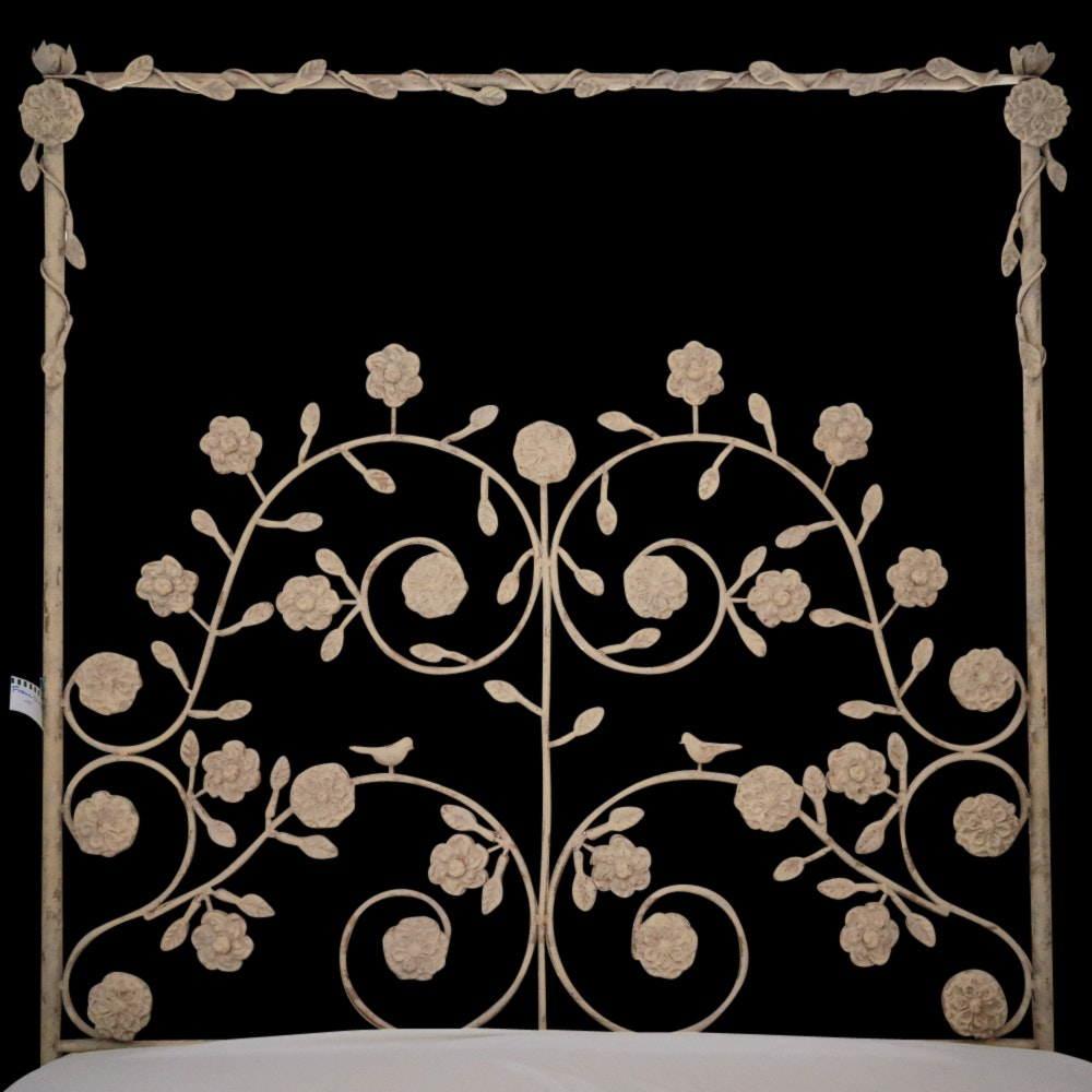 Wrought Iron-Style Metal Queen Size Bed Frame