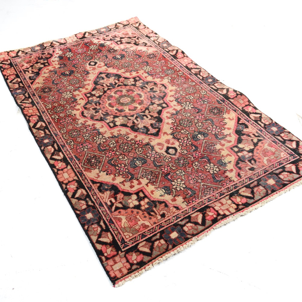 Vintage Hand-Knotted Romanian Rug