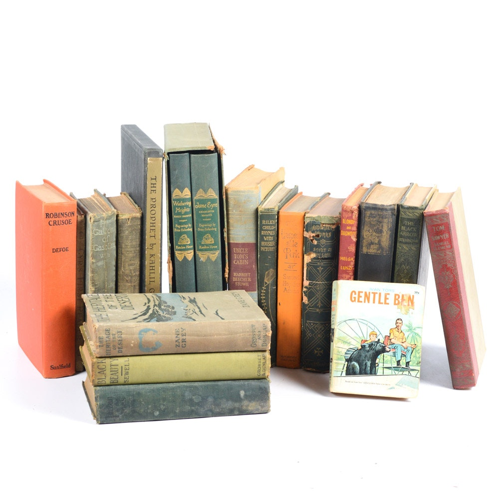 Collection of Antique and Vintage Literature