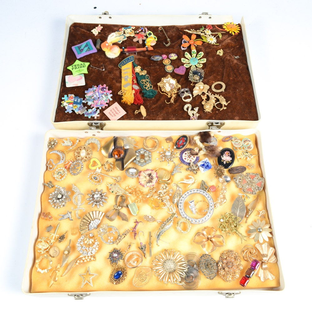 Collection of Vintage Brooches and Pins