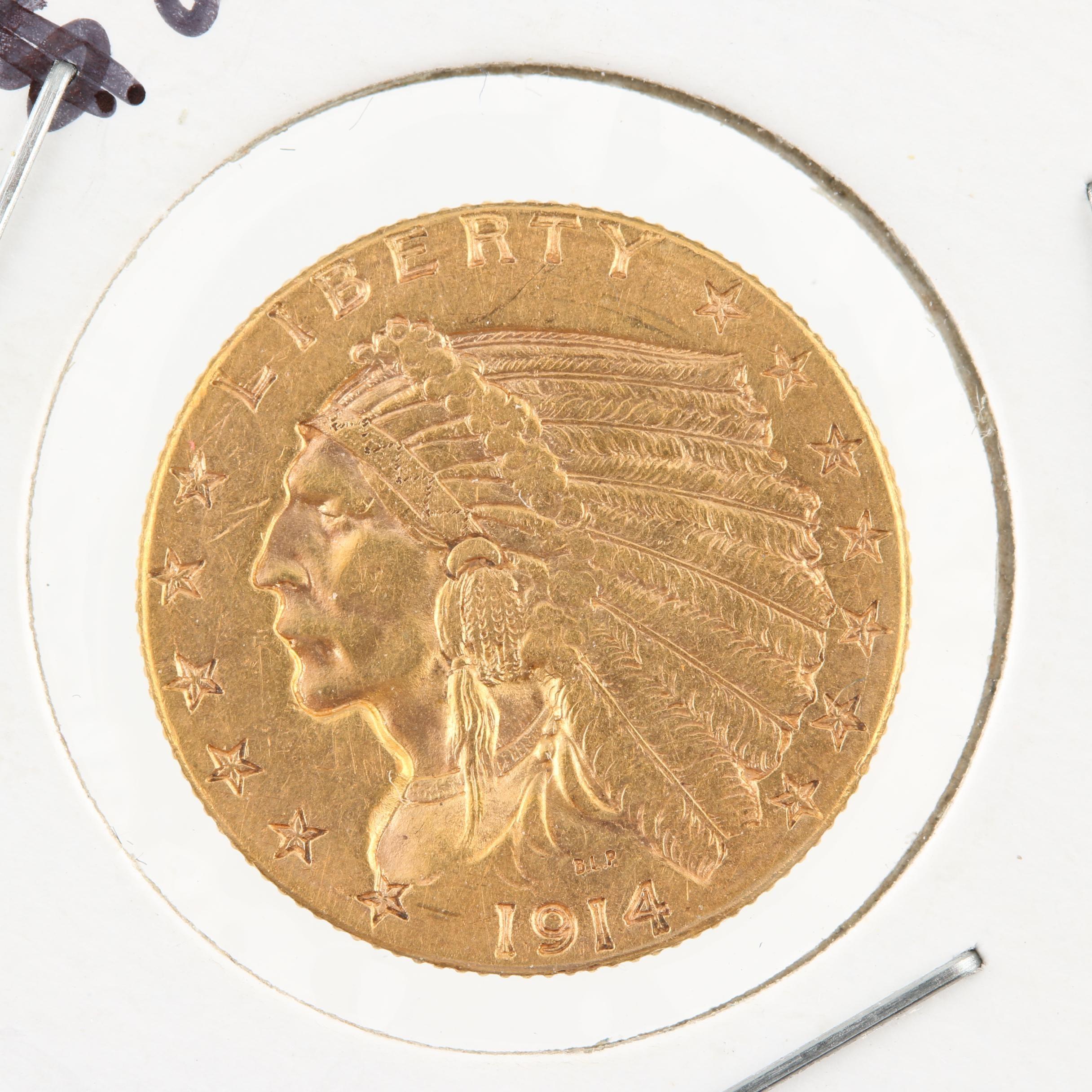 1914-D Liberty Head $2 1/2 Gold Coin