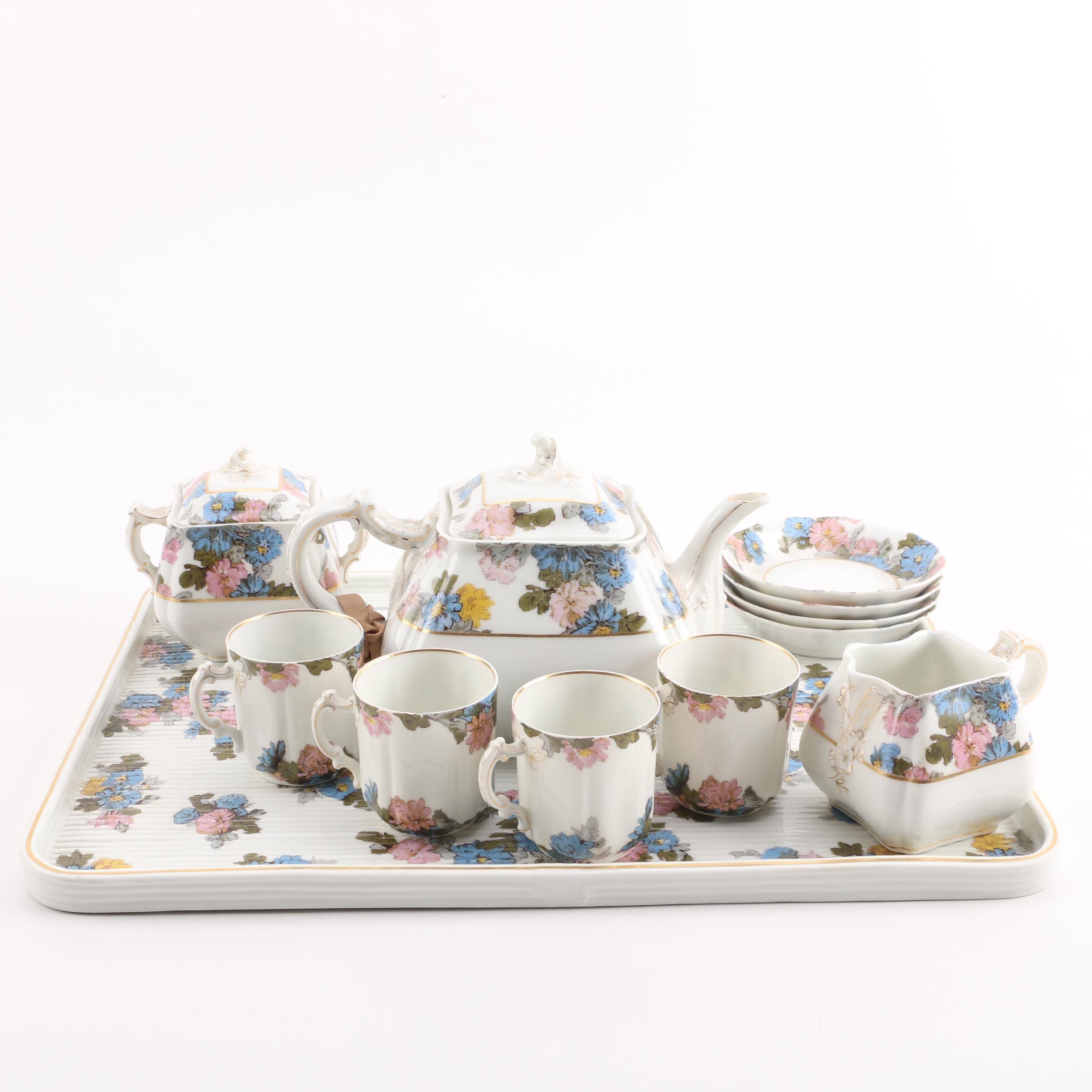Antique  Haviland Limoges Porcelain Tea Service