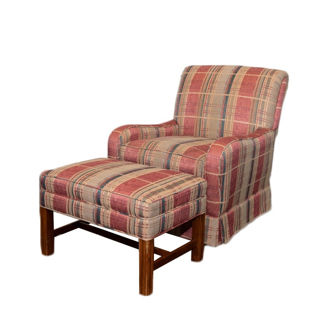 Upholstered Armchair with Matching Bench