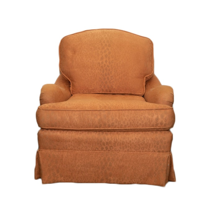 Century Furniture Orange Upholstered Accent Armchair