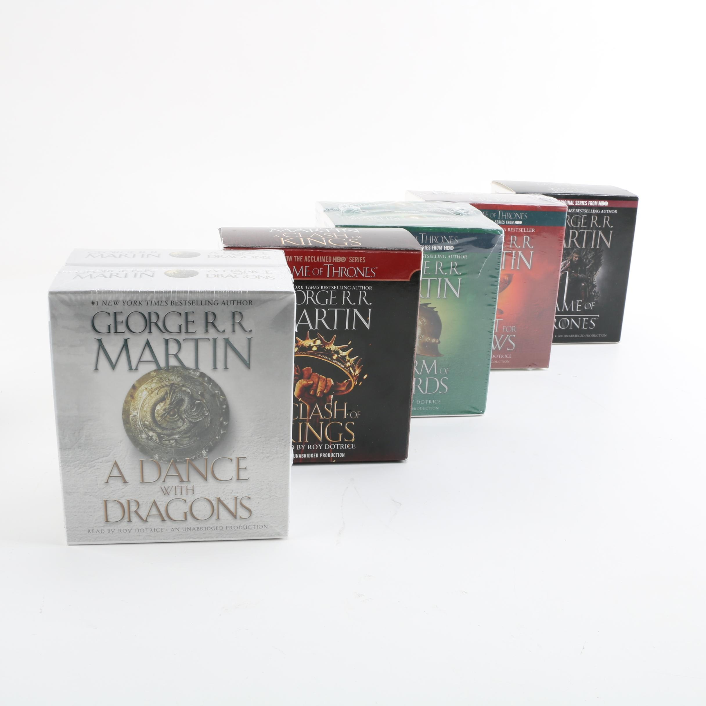 """George R.R. Martin """"Song of Ice and Fire"""" Series (""""Game of Thrones"""") Books on CD"""