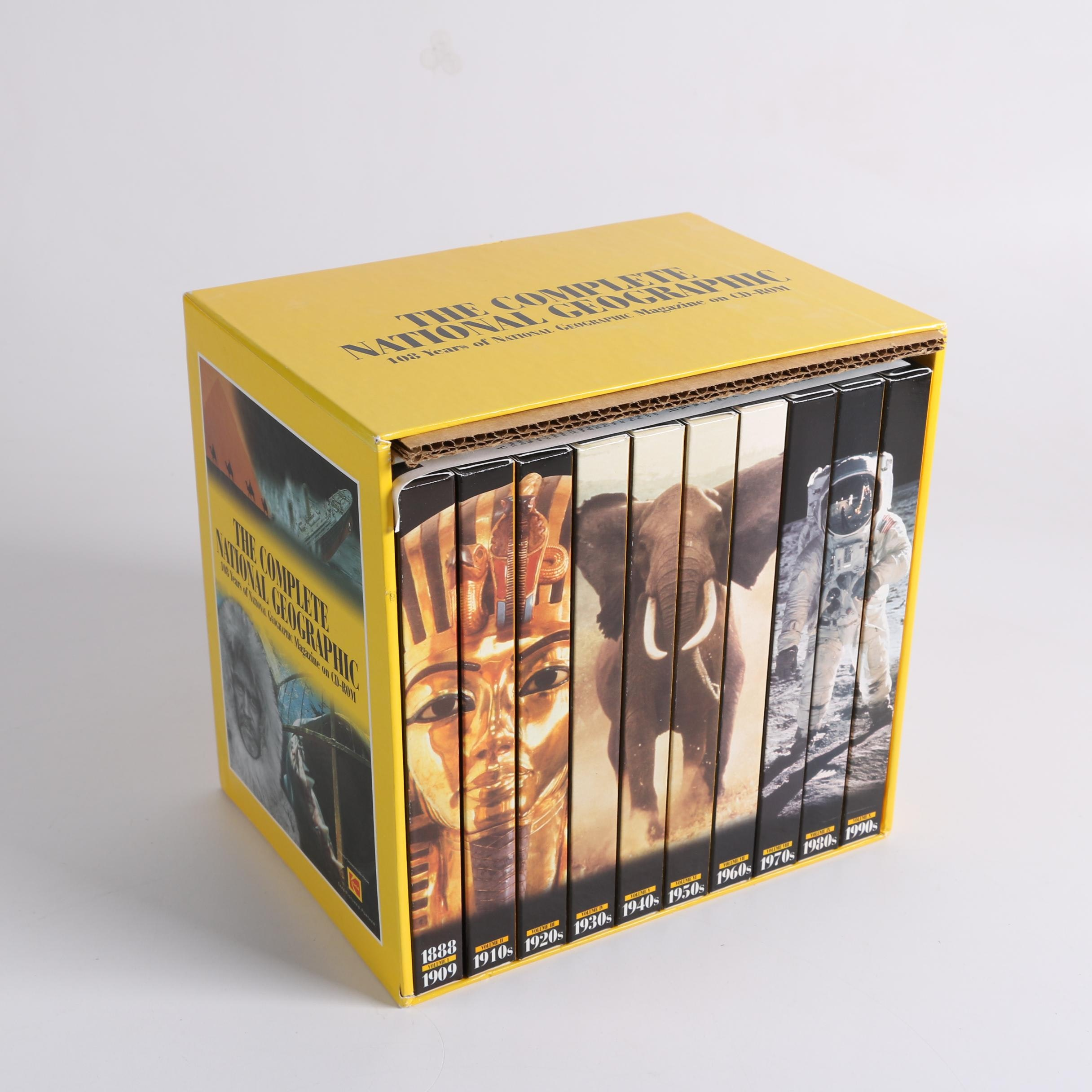 """1995 """"The Complete National Geographic"""" CD-ROM Box Set"""