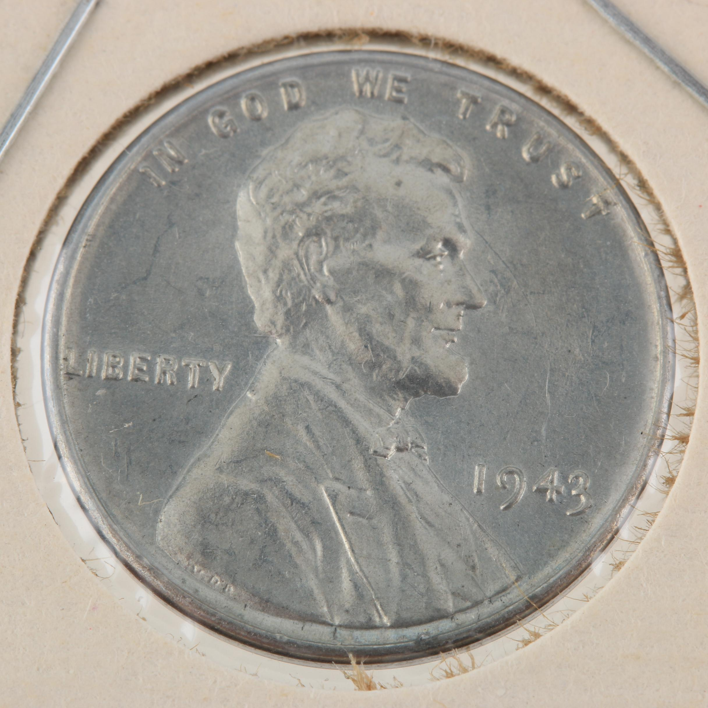 1943 Lincoln Head Wheat Wartime Steel Cent