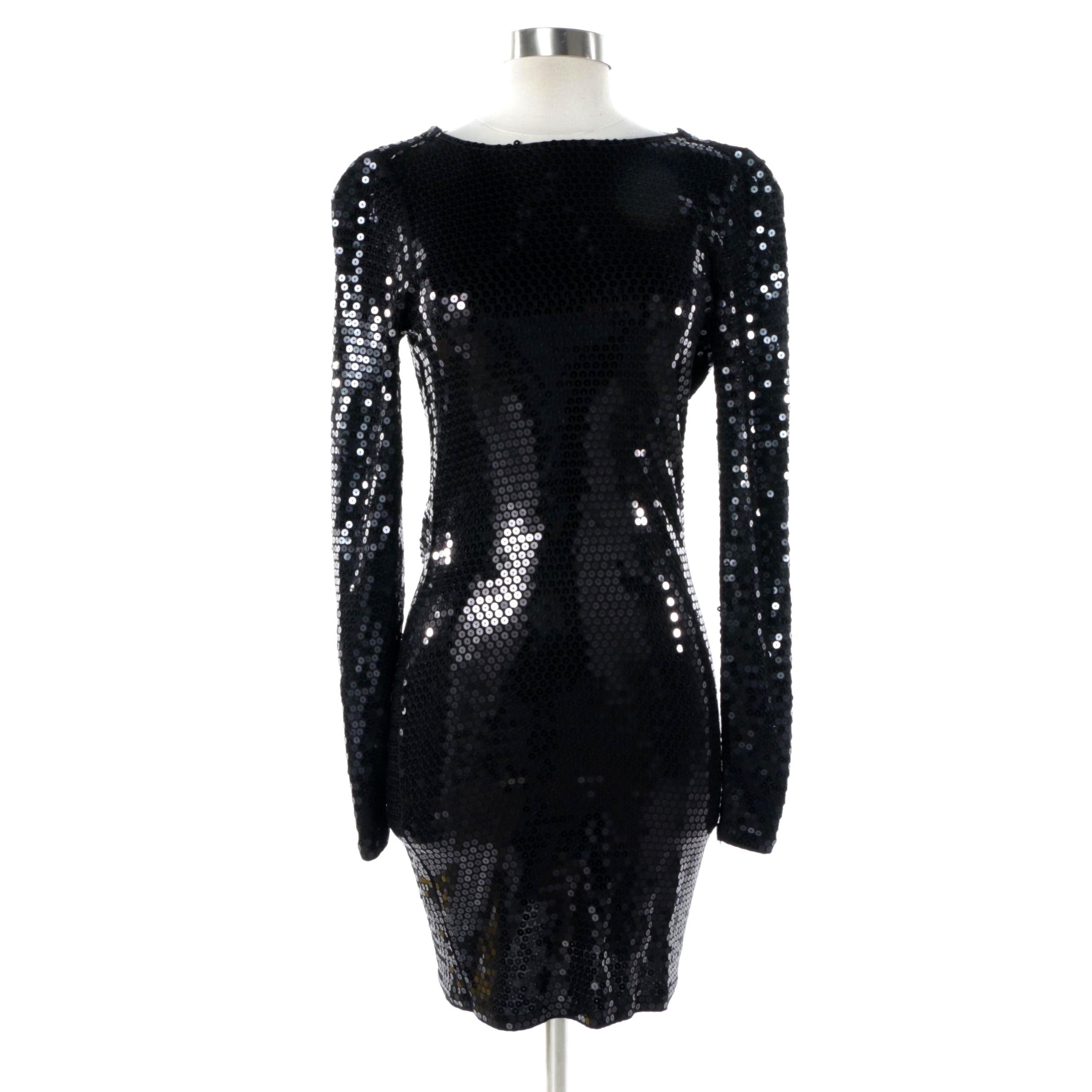Michael Michael Kors Black Sequin Cocktail Dress with Original Tags