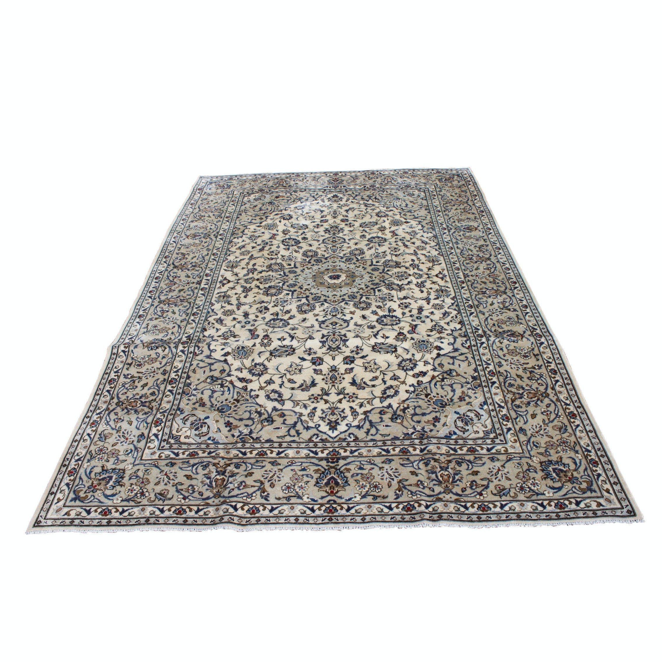 Hand-Knotted Persian Nain Room Size Rug
