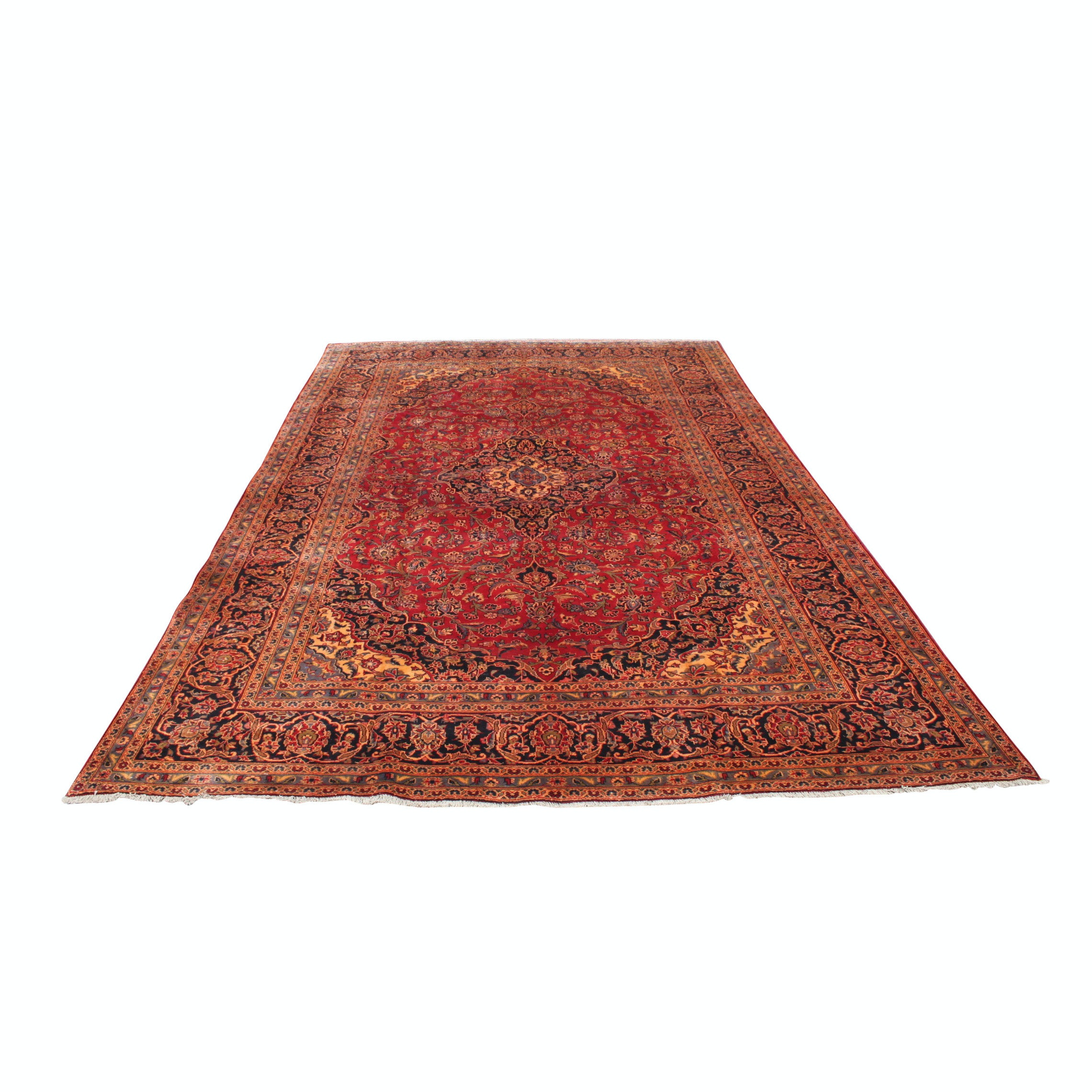 Handknotted Vintage Persian Kashan Palace Rug