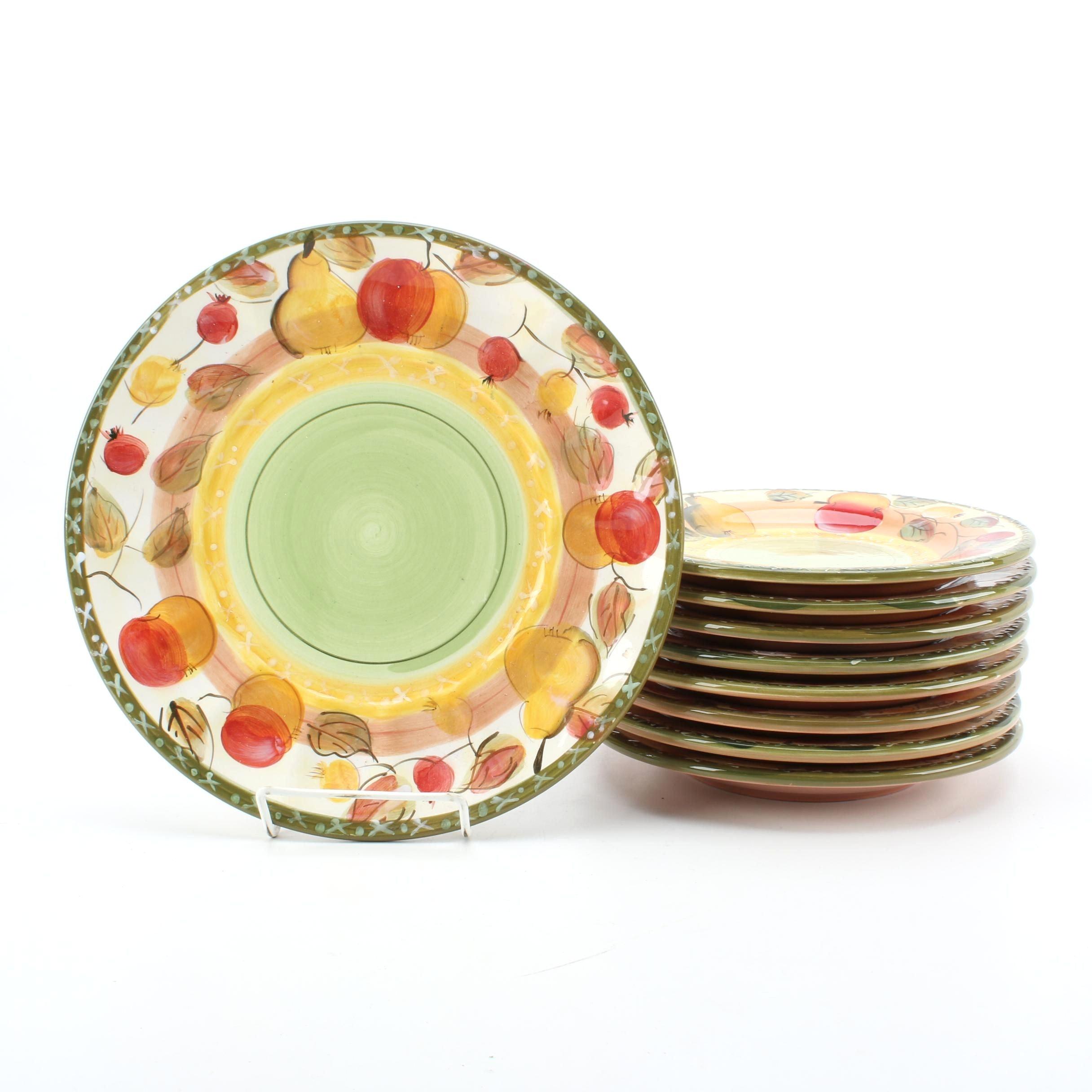 "Gibson Designs ""Clementine"" Plates"