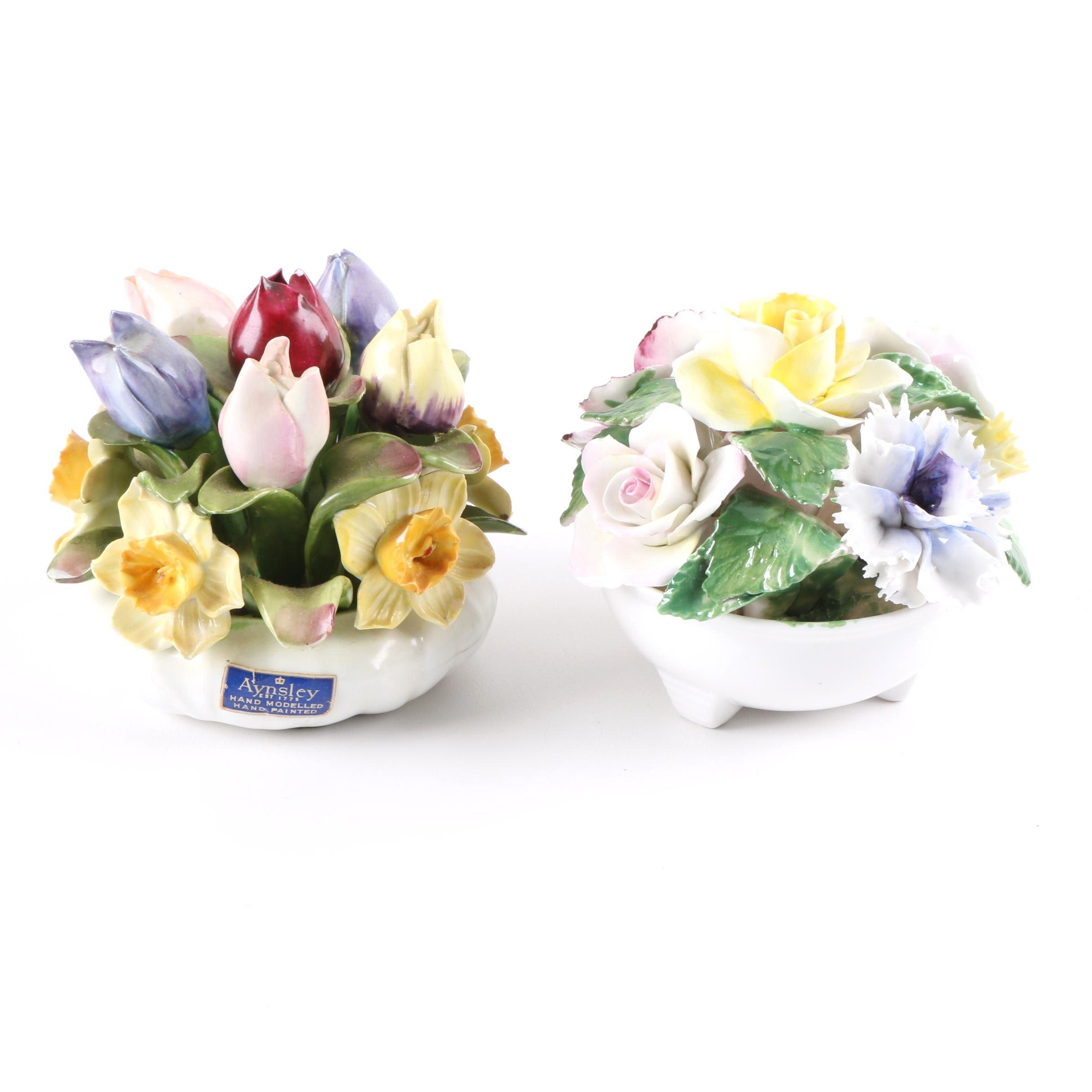 Aynsley and Kew Royal Floral Figurines