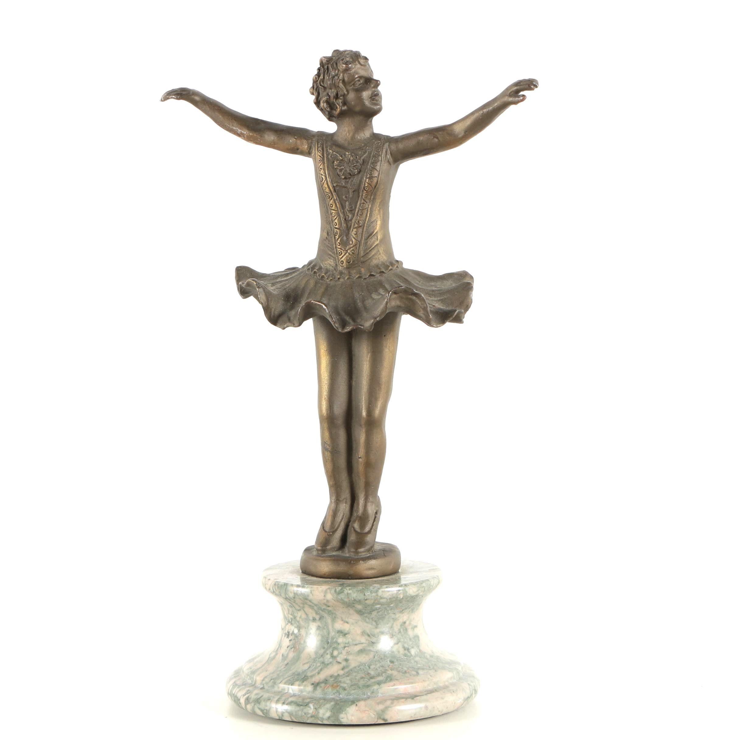 Spelter Sculpture of Ballerina