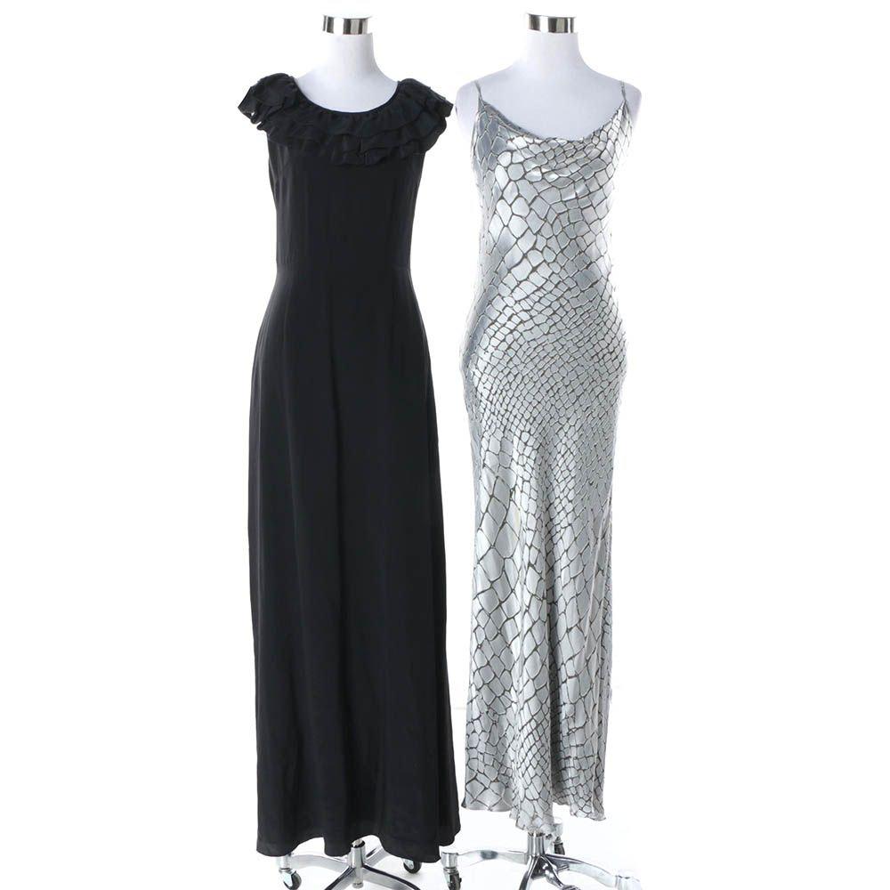 Black Silk Wayne Evening Dress and Silk Blend Anne Klein Evening Dress