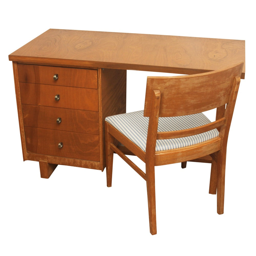 Mid Century Modern Student Desk and Chair