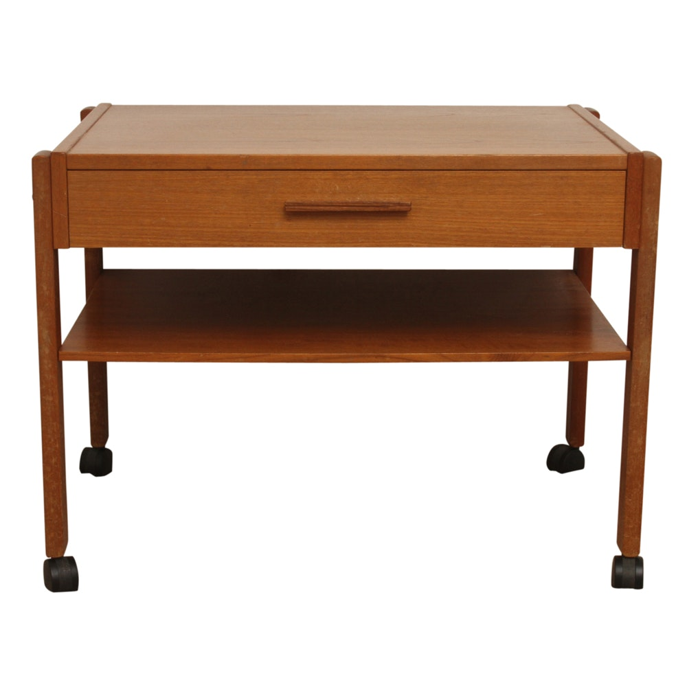 Vintage Accent Table on Casters