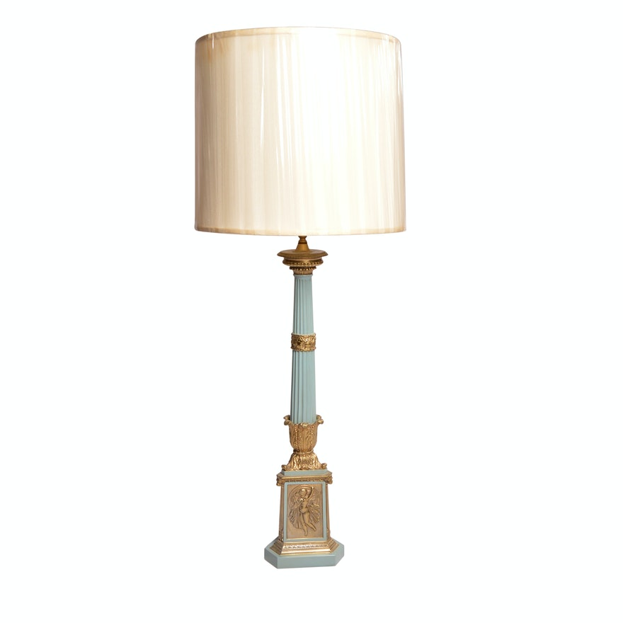 Vintage Warren Kessler Neoclical Revival Style Table Lamp