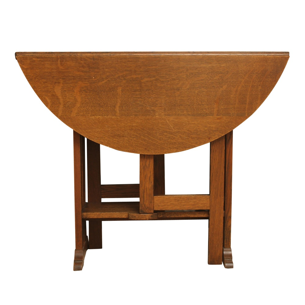 Arts and Crafts Oak Gate-Leg Table