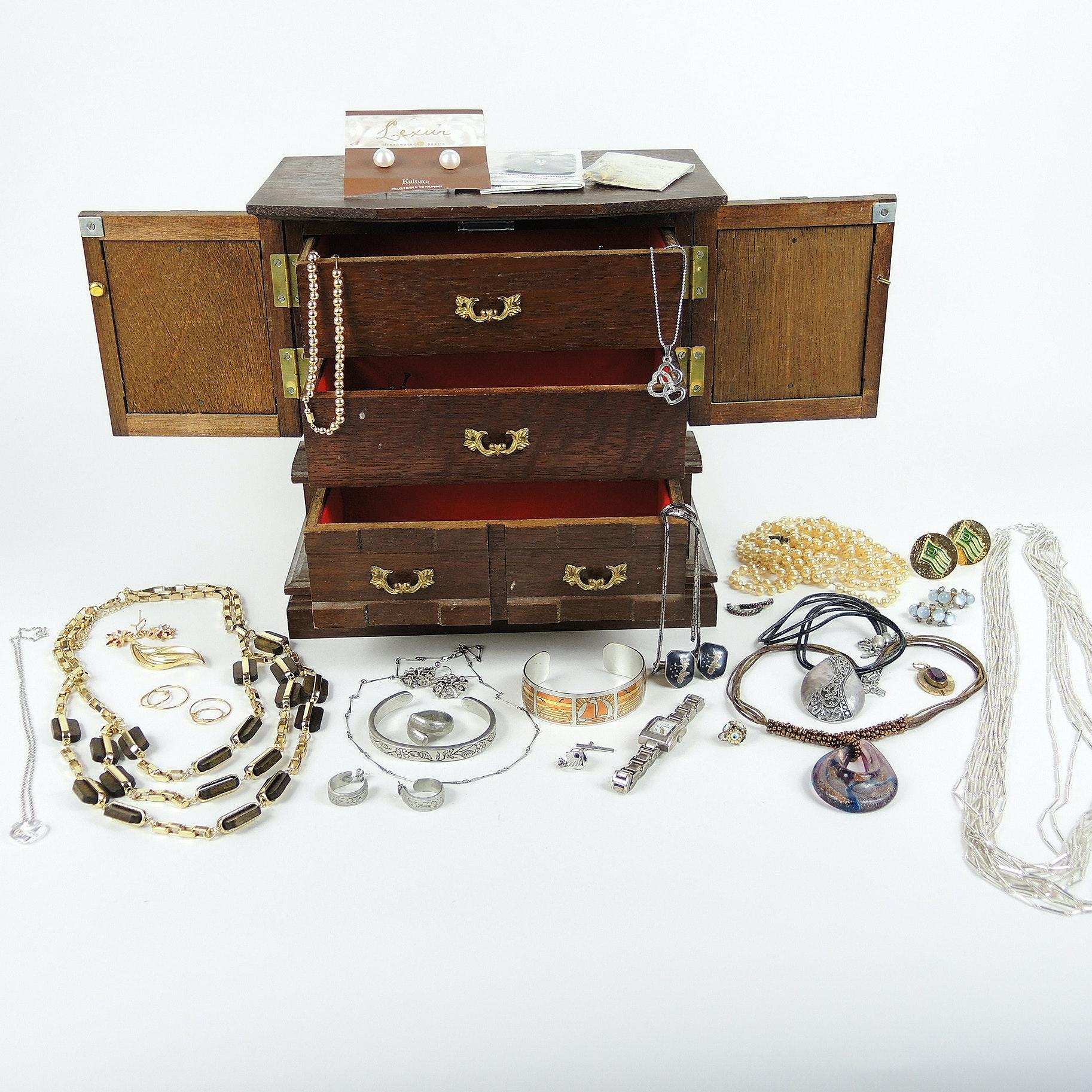 Costume Jewelry with Music Box