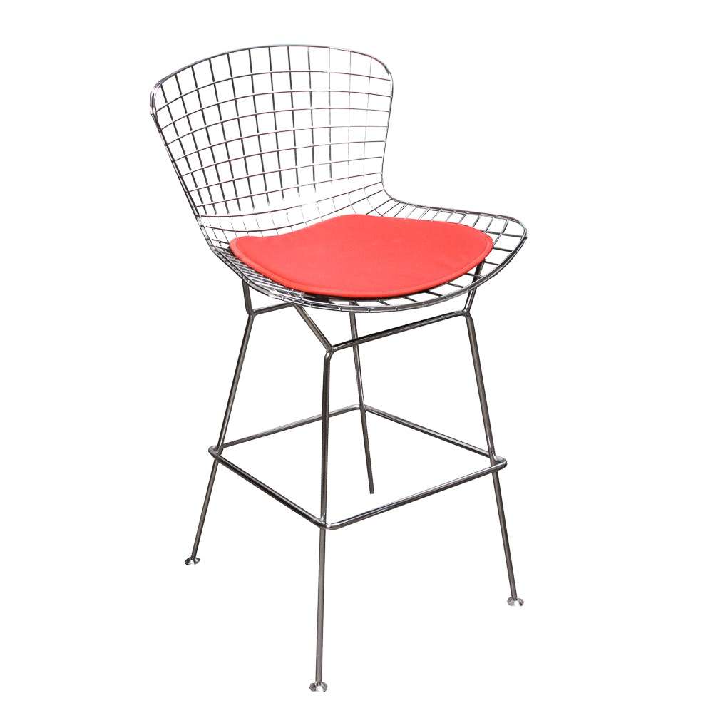Pair of Modern Wire Back Bar Chairs