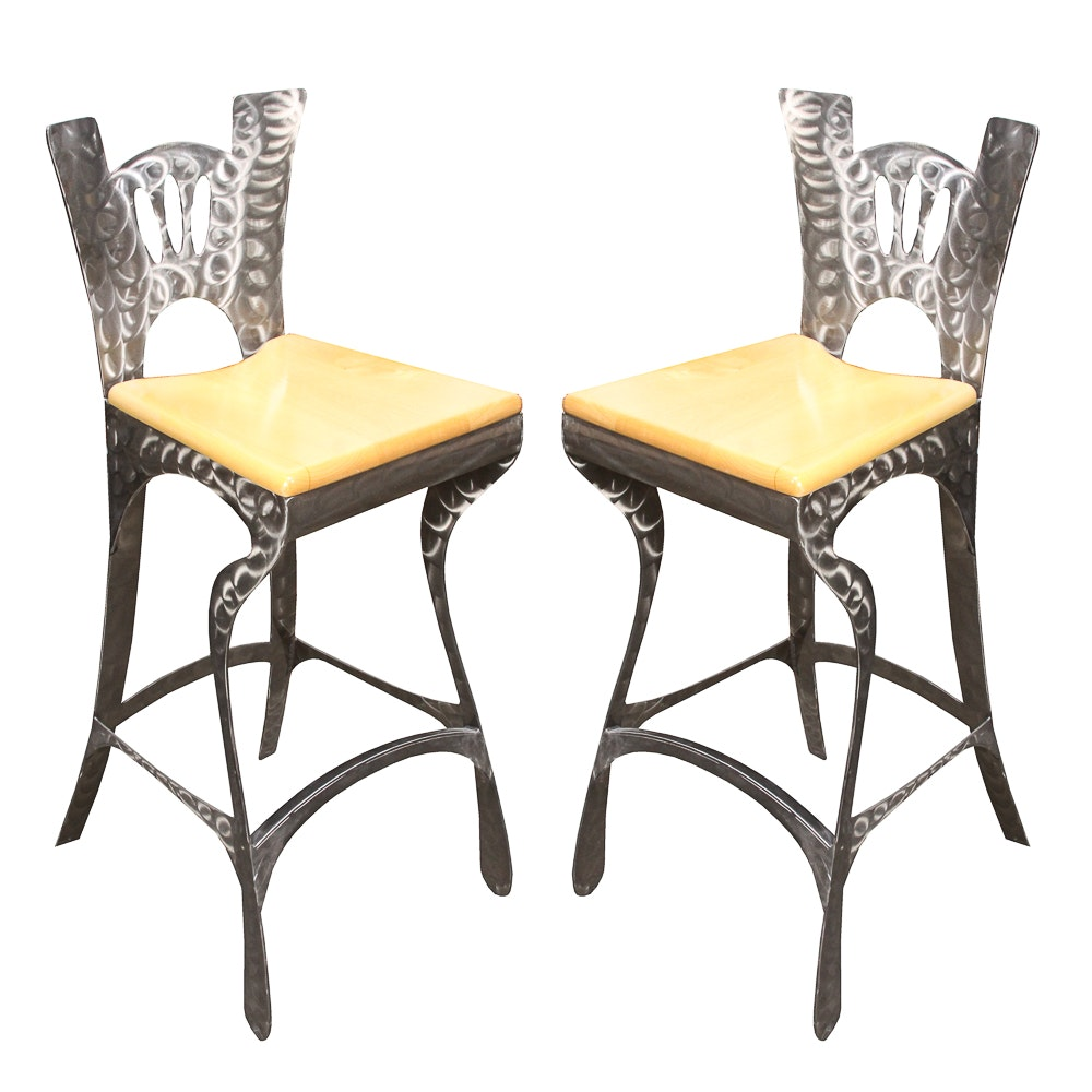 Modern Style Metal Barstools